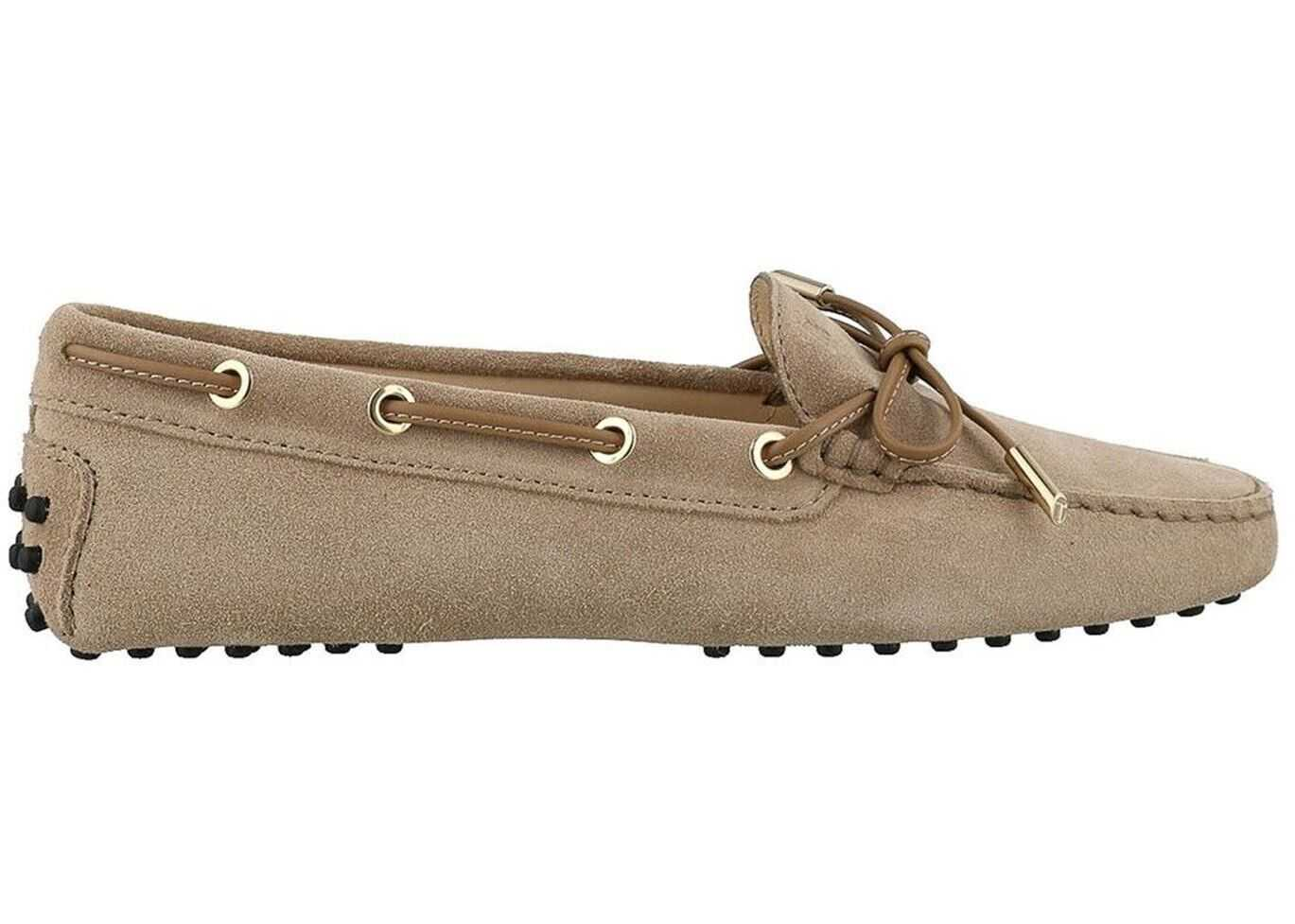 TOD'S Gommino Suede Loafers XXW0FW05030CKO1Y28 Beige imagine b-mall.ro