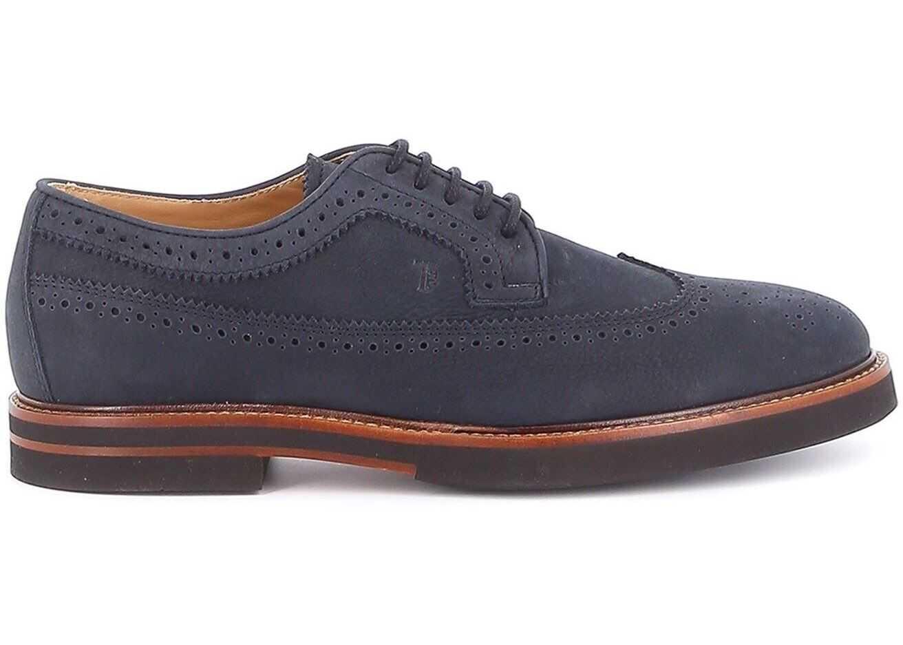 TOD'S Brogue Shoes In Blue XXM53B00C106RNU810 Blue imagine b-mall.ro