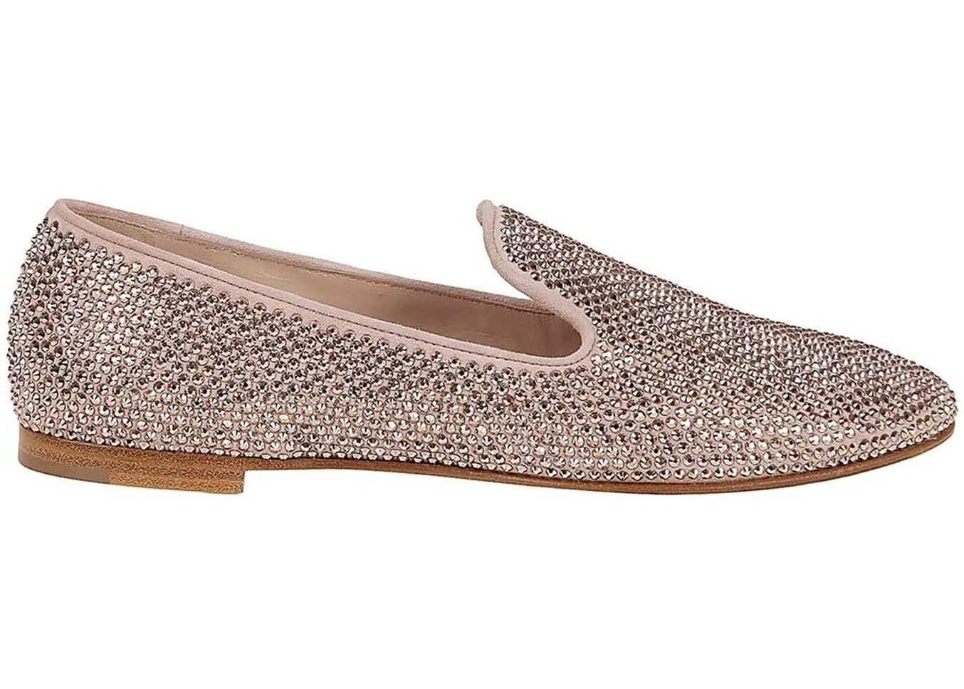 Giuseppe Zanotti Lindy Crystal Loafers Pink