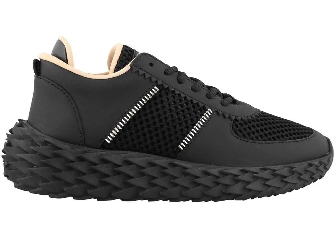 Giuseppe Zanotti Urchin Black Leather Sneakers Black
