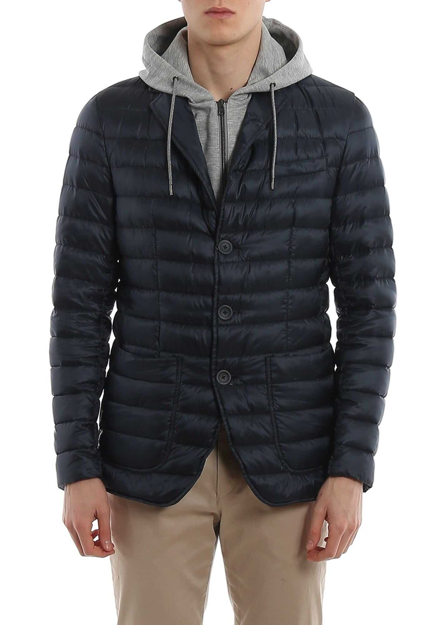 Herno Padded Blazer With Detachable Double Front Blue