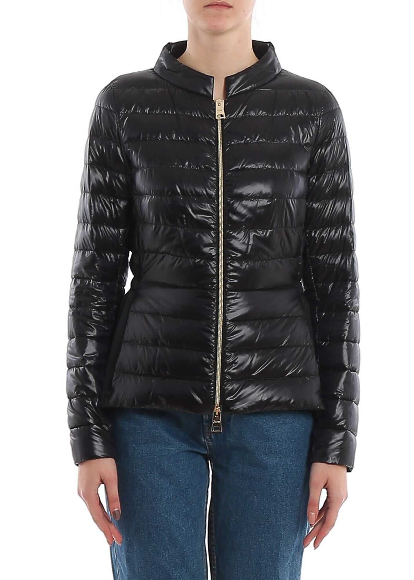 Herno Fabric Puffer Jacket Black