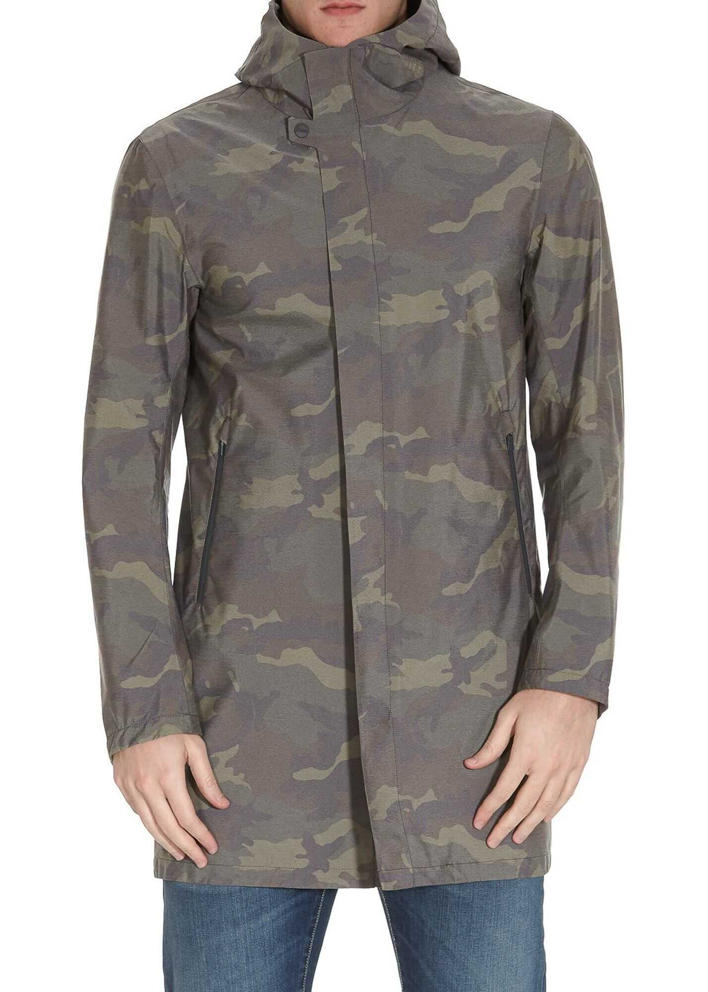 Herno Laminar Camouflage Raincoat Multi imagine