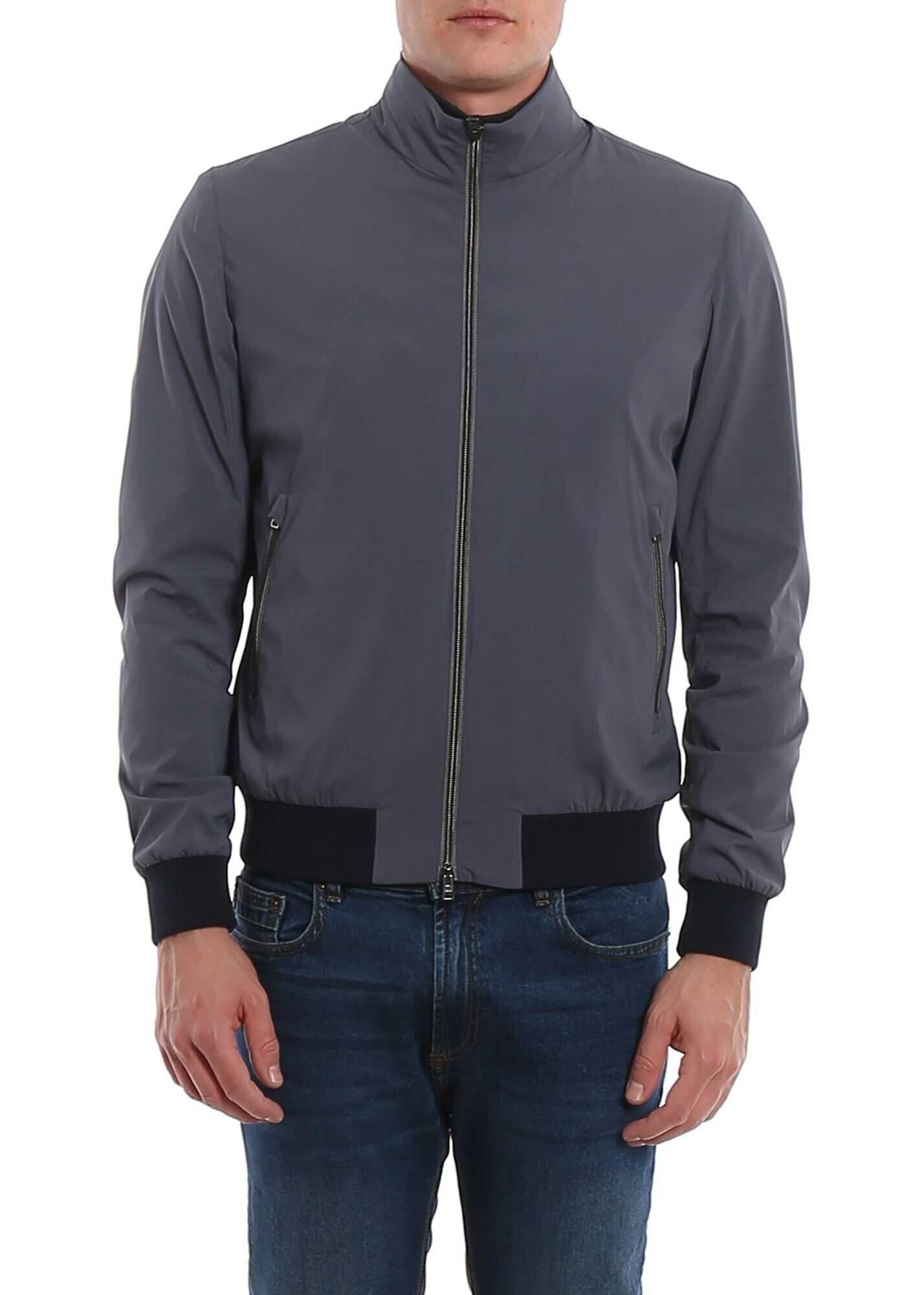 Herno Stretch Tech Fabric Jacket Blue