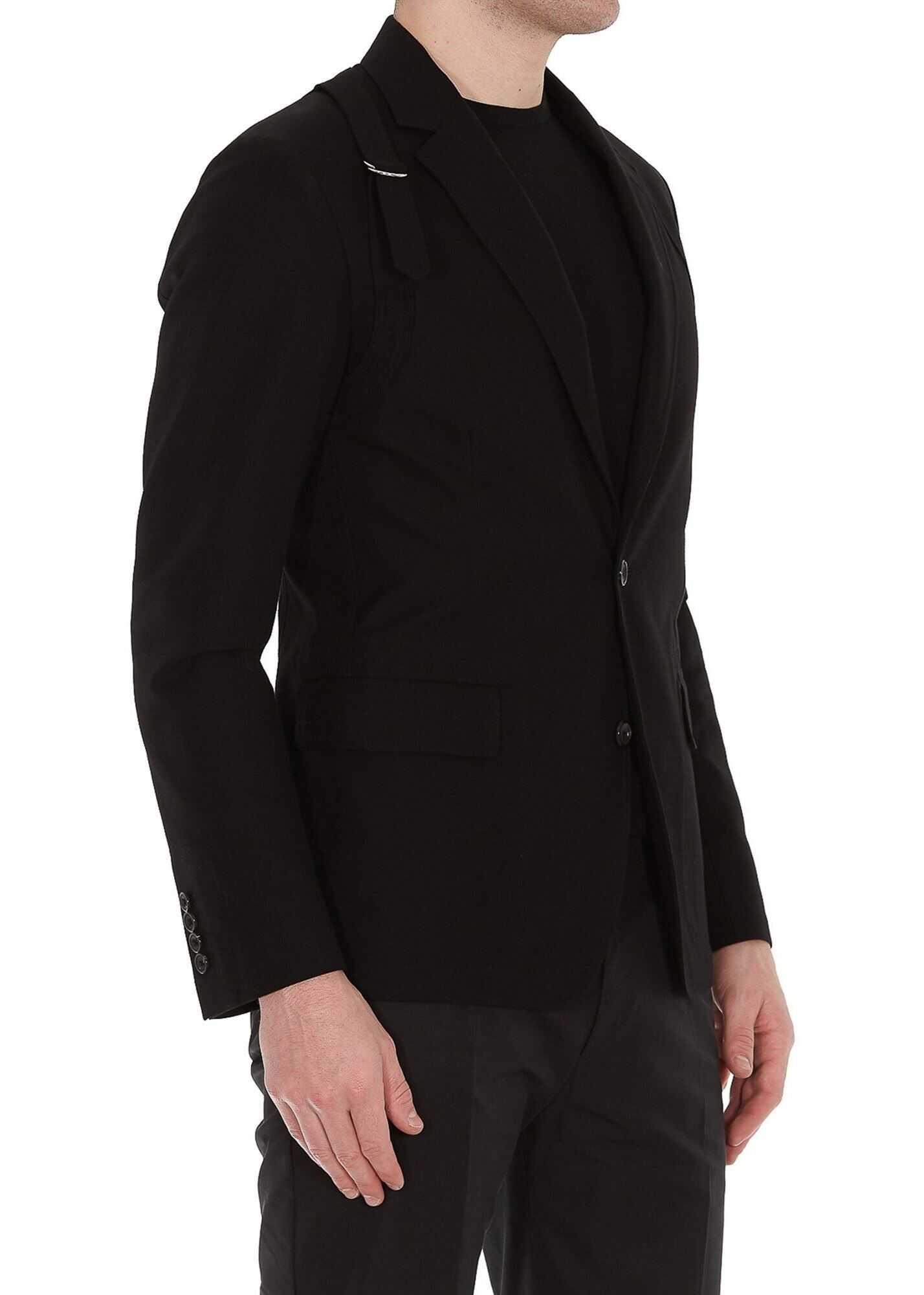 Alexander McQueen Cotton Blazer Black