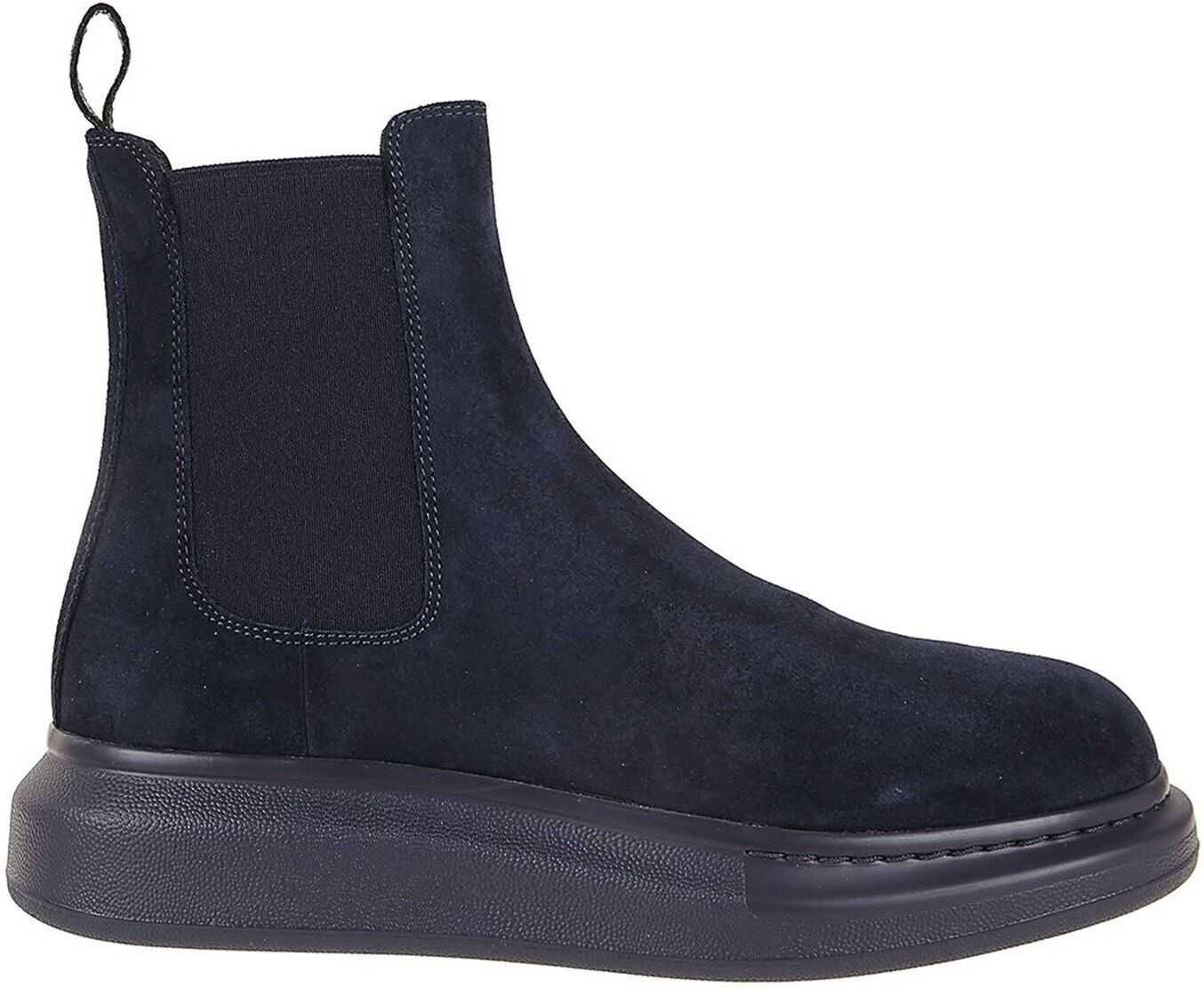 Alexander McQueen Hybrid Suede Chelsea Ankle Boots Blue