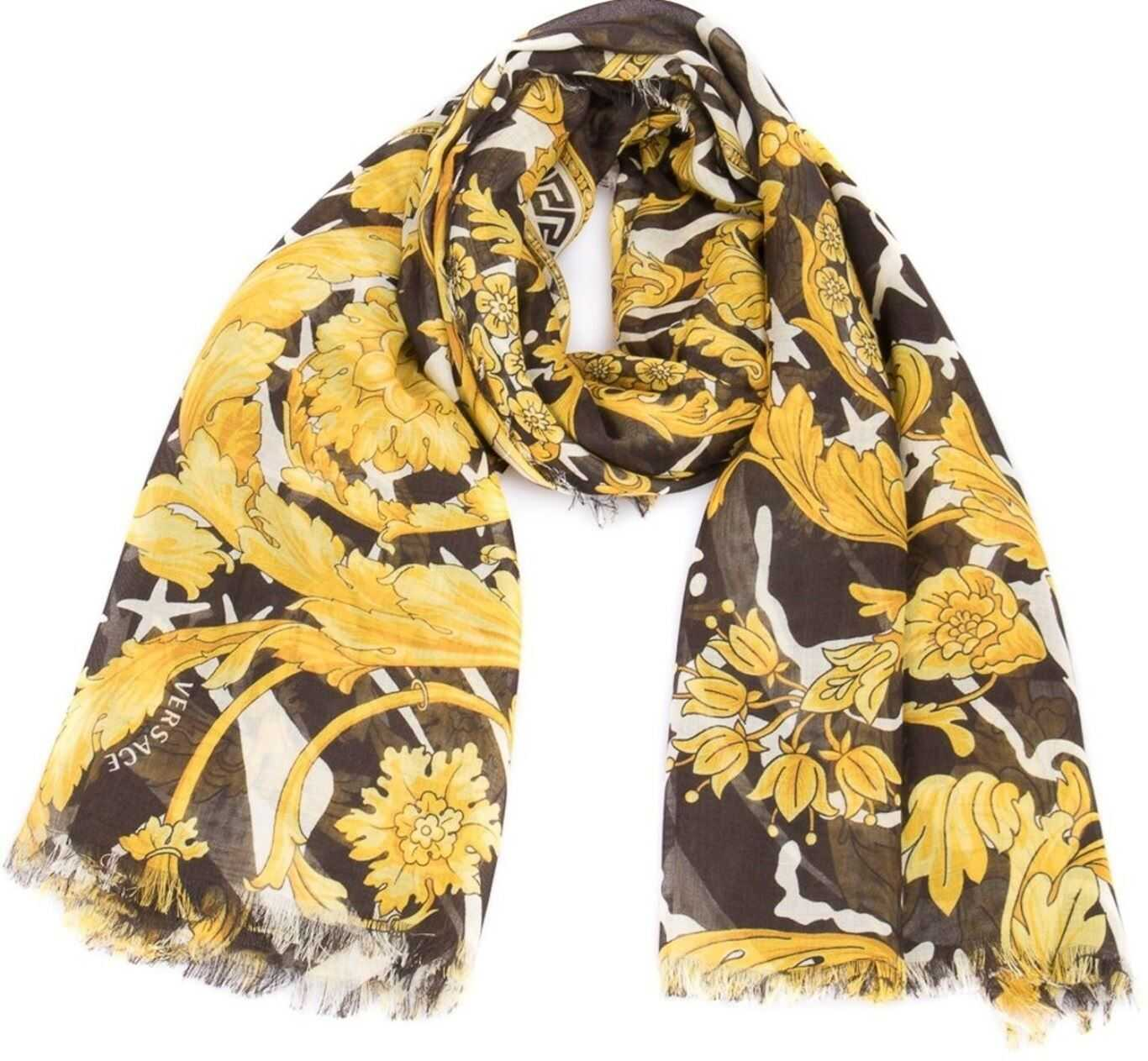 Versace Baroque Printed Scarf Gold
