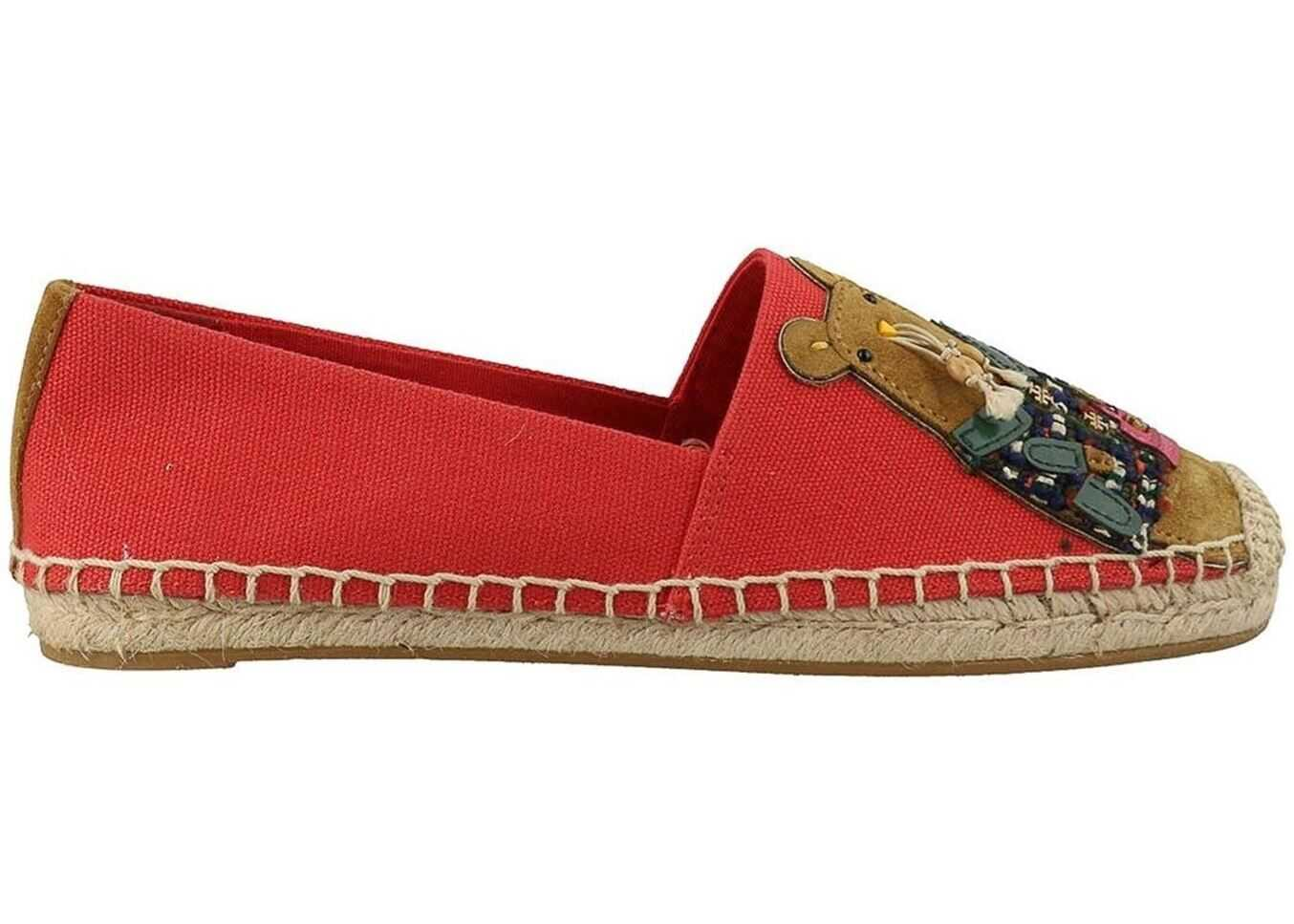 Tory Burch Rita The Rat Canvas Espadrilles Red