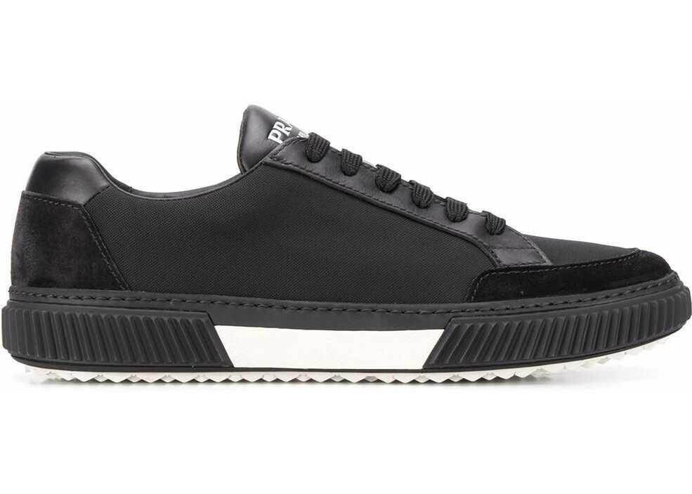 Prada Leather Sneakers BLACK