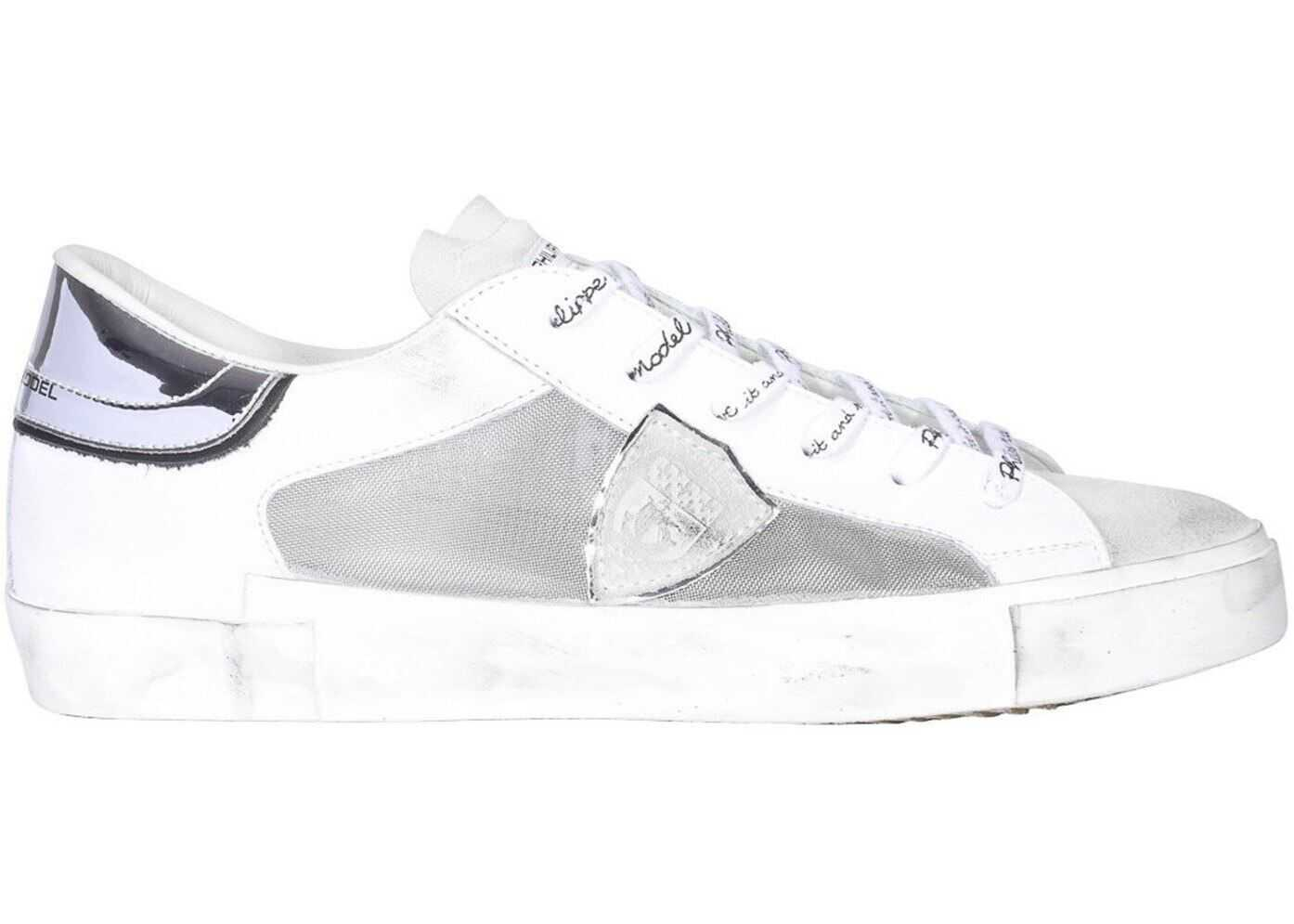 Philippe Model Prsx Tech Fabric And Leather Sneakers White