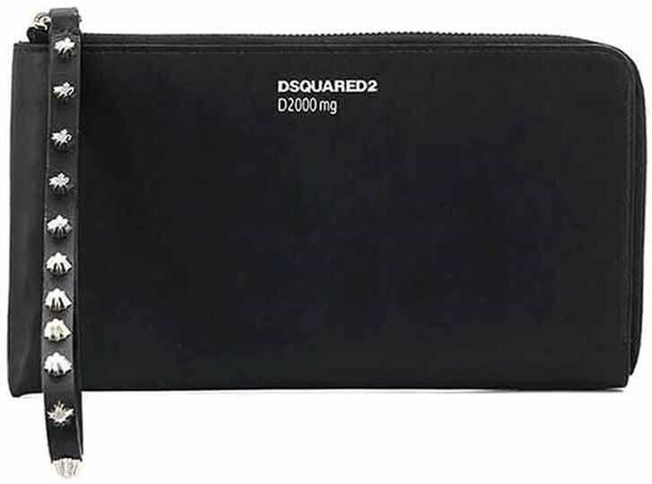 DSQUARED2 Leather Zip Around Wallet Black
