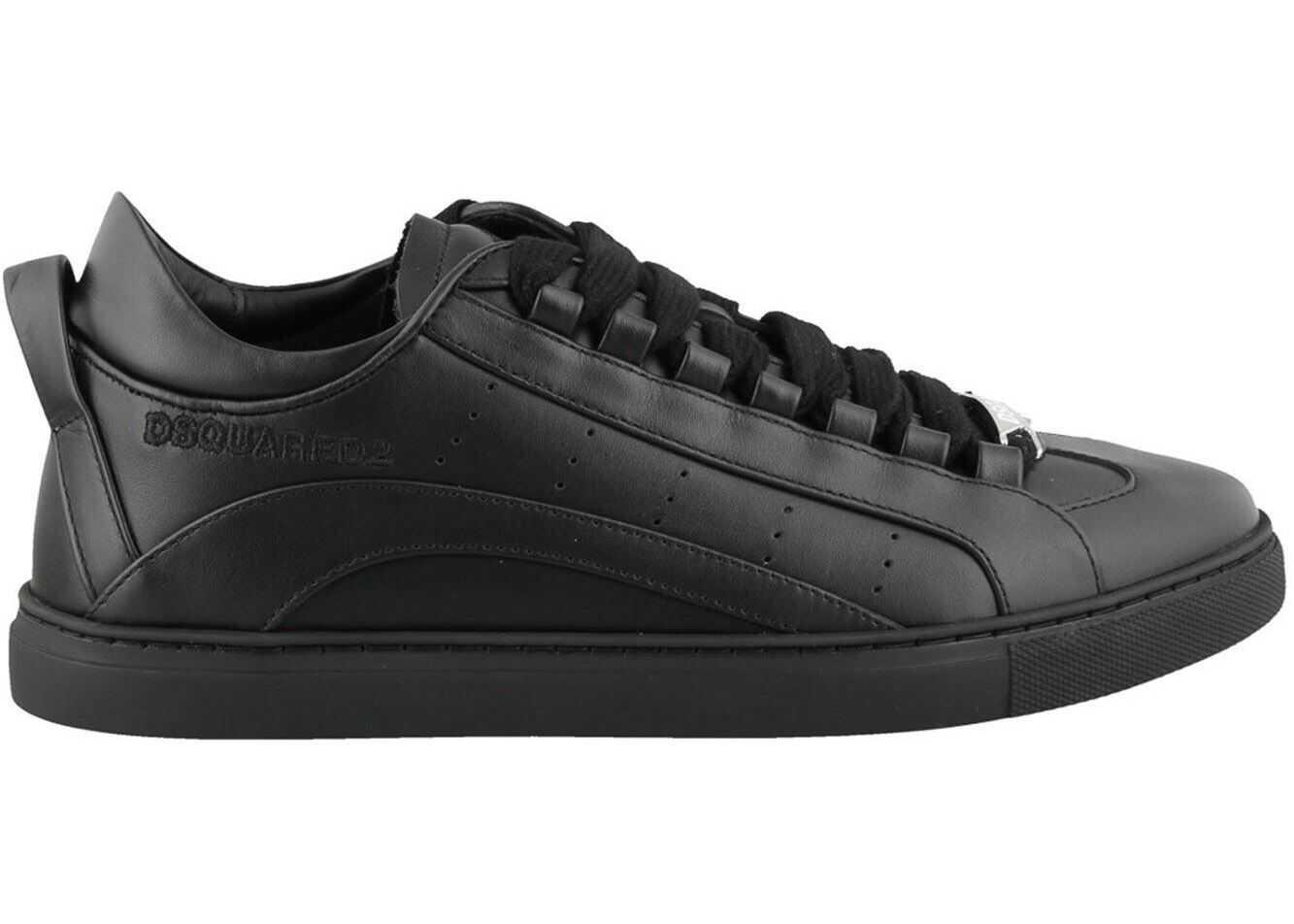 DSQUARED2 251 Black Low Top Sneakers Black