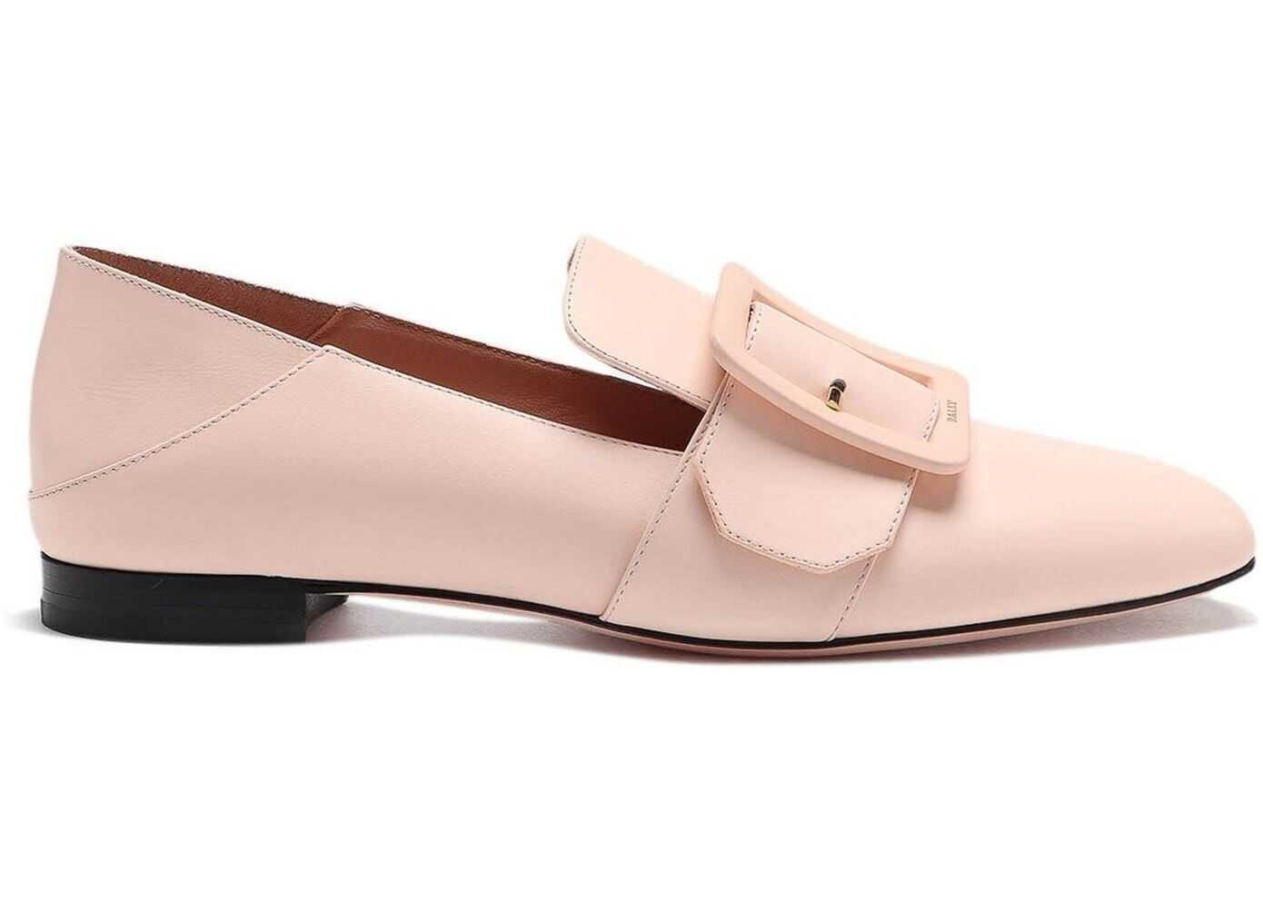 Bally Janelle Leather Slippers Pink