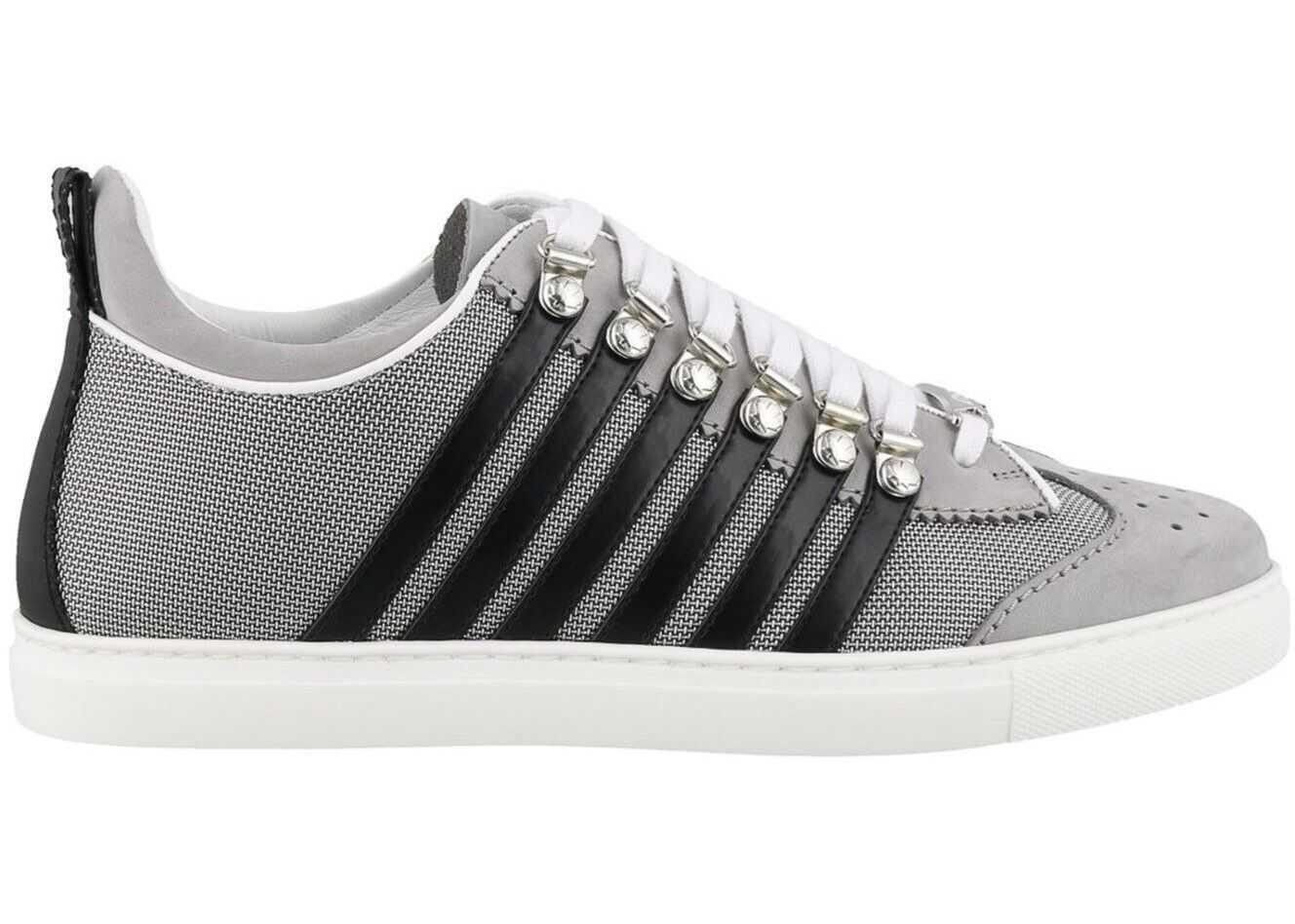 DSQUARED2 251 Box Sole Low Top Sneakers Grey