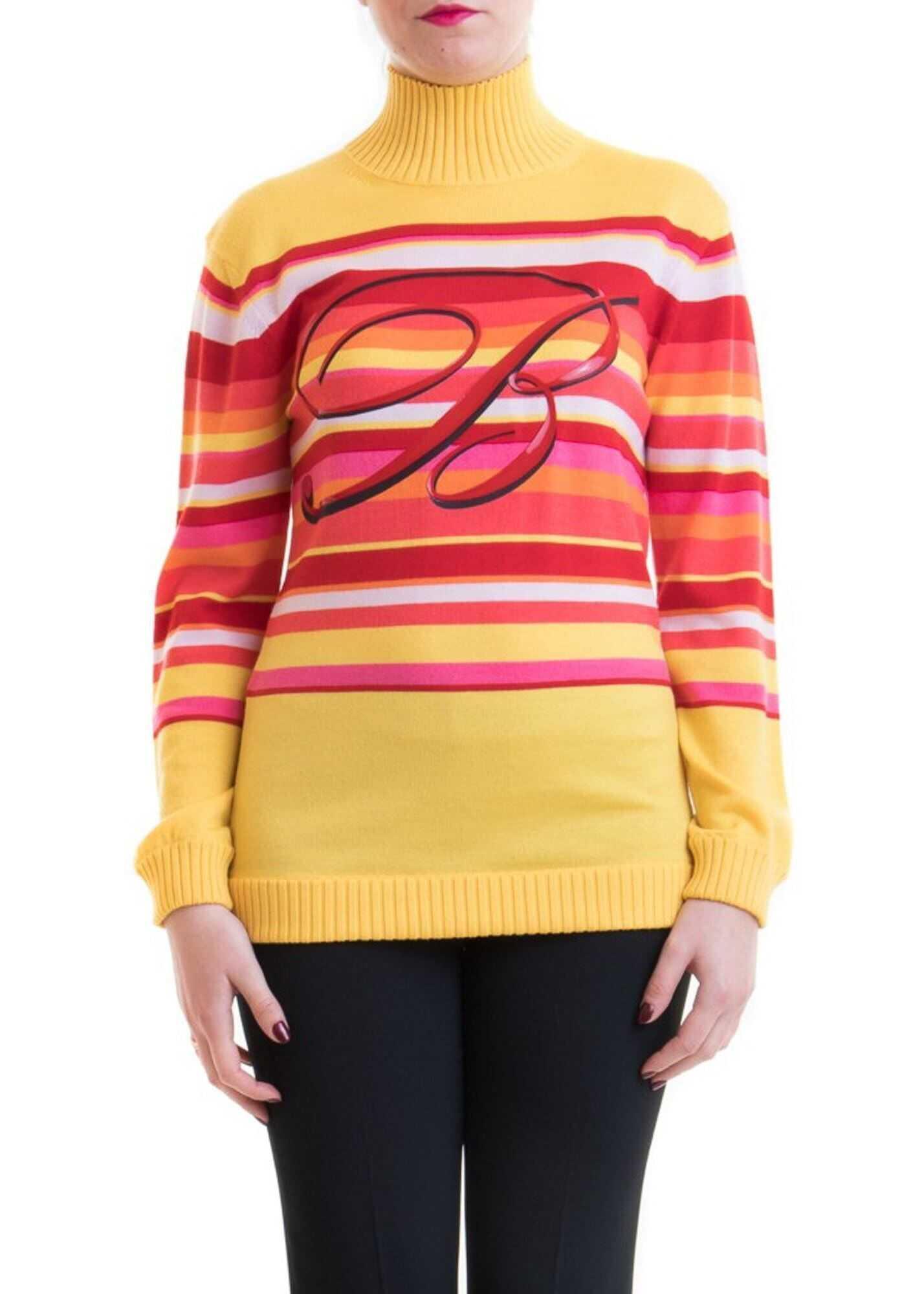 Blumarine Striped Wool Sweater Multi