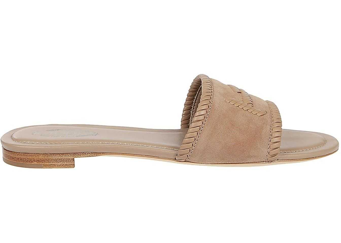 Woven Double T Flat Sandals