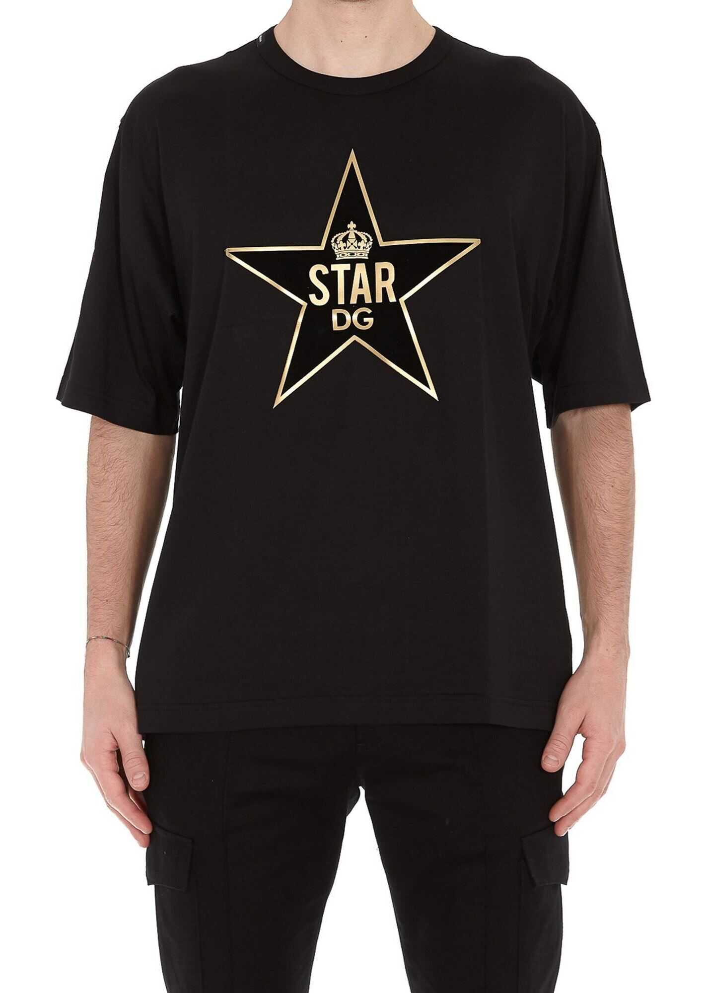 Dolce & Gabbana Star Dg Patch T-Shirt Black