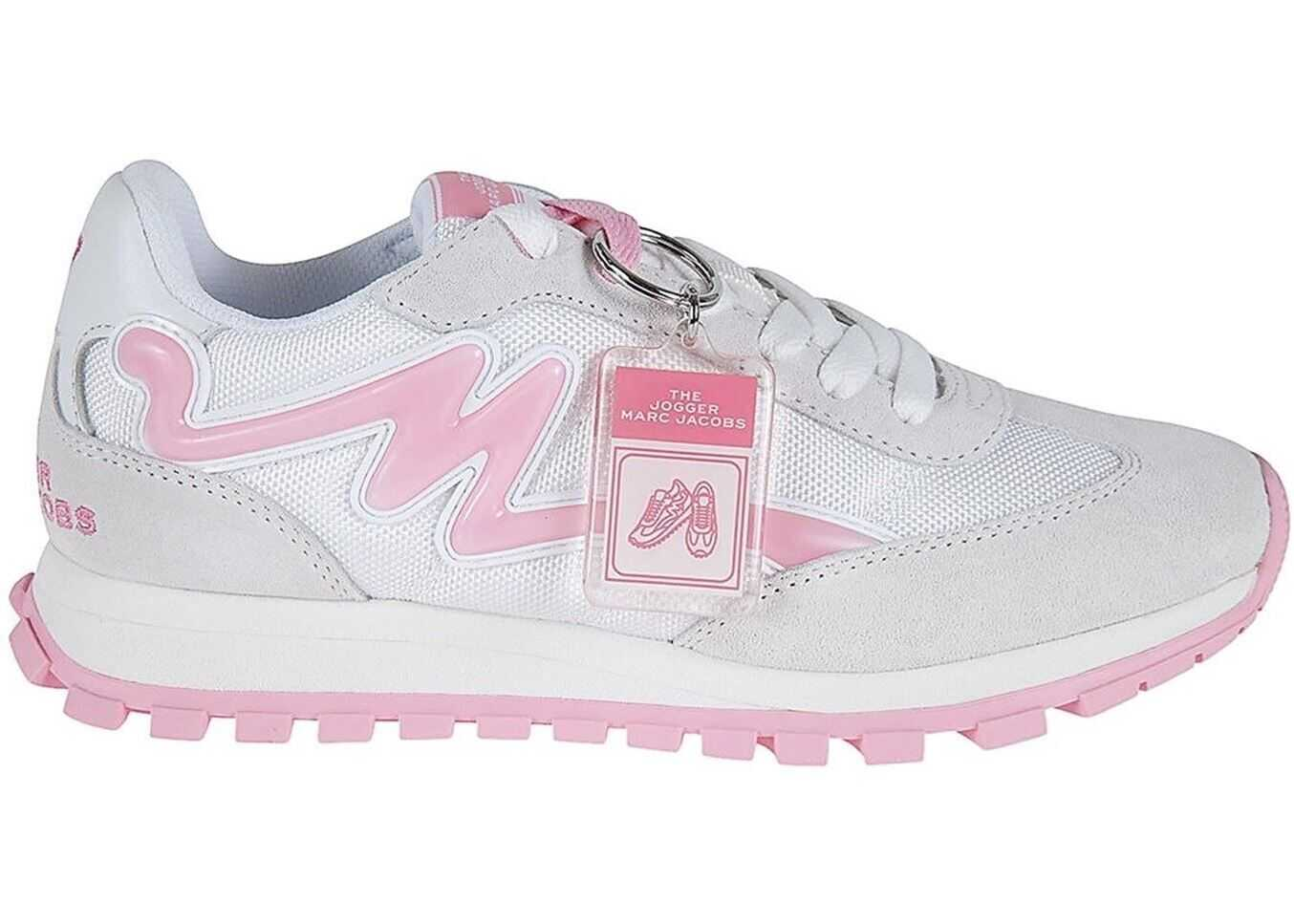 Marc Jacobs The Jogger Mesh And Suede Sneakers Pink