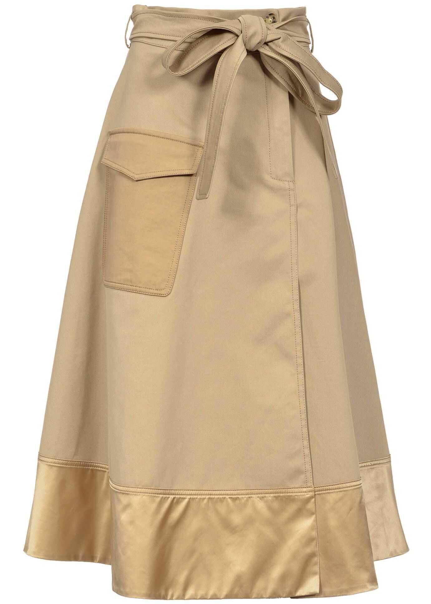 Pinko Cotton Skirt BEIGE