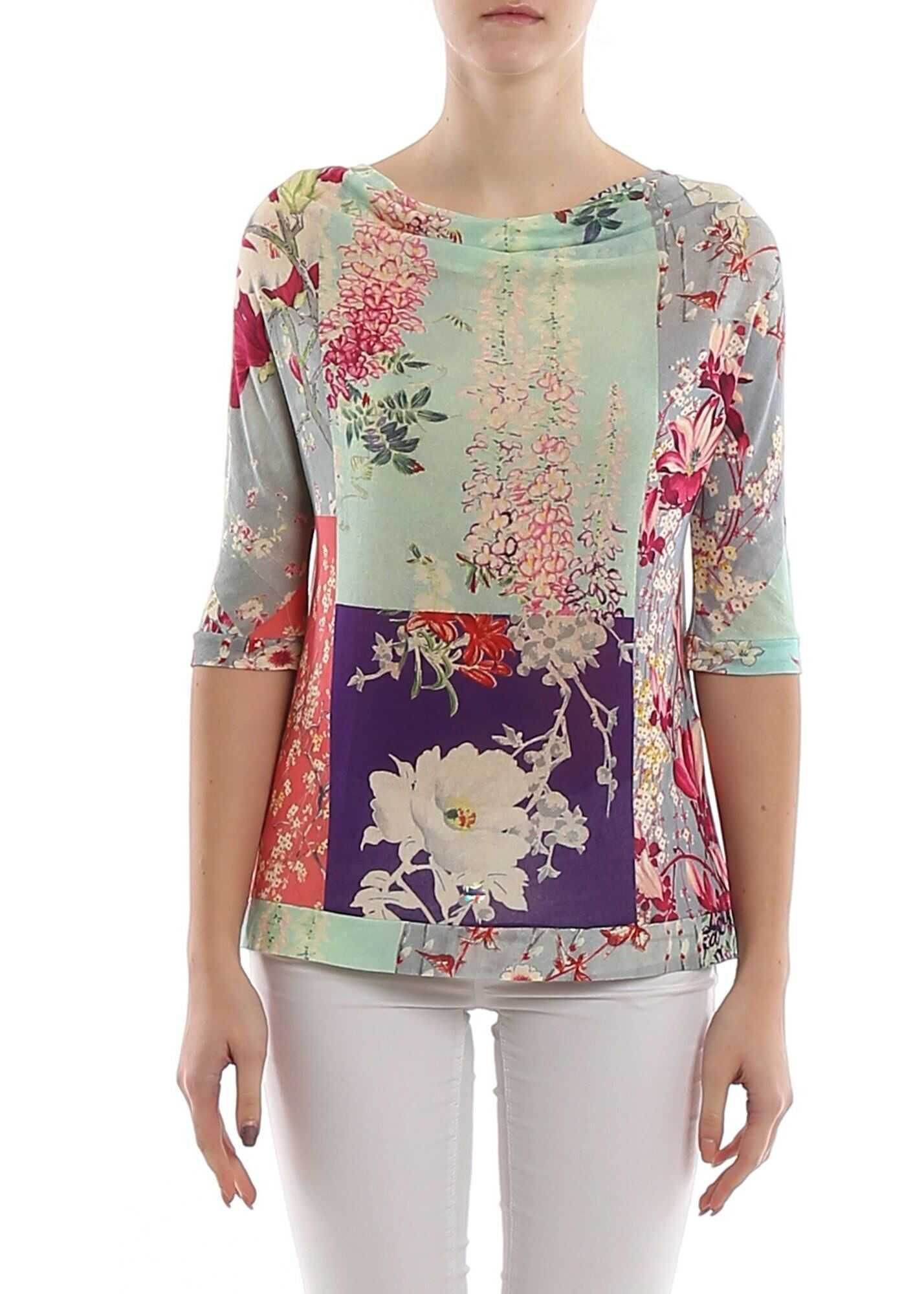 ETRO Patterned Knitted Viscose Blouse Multi