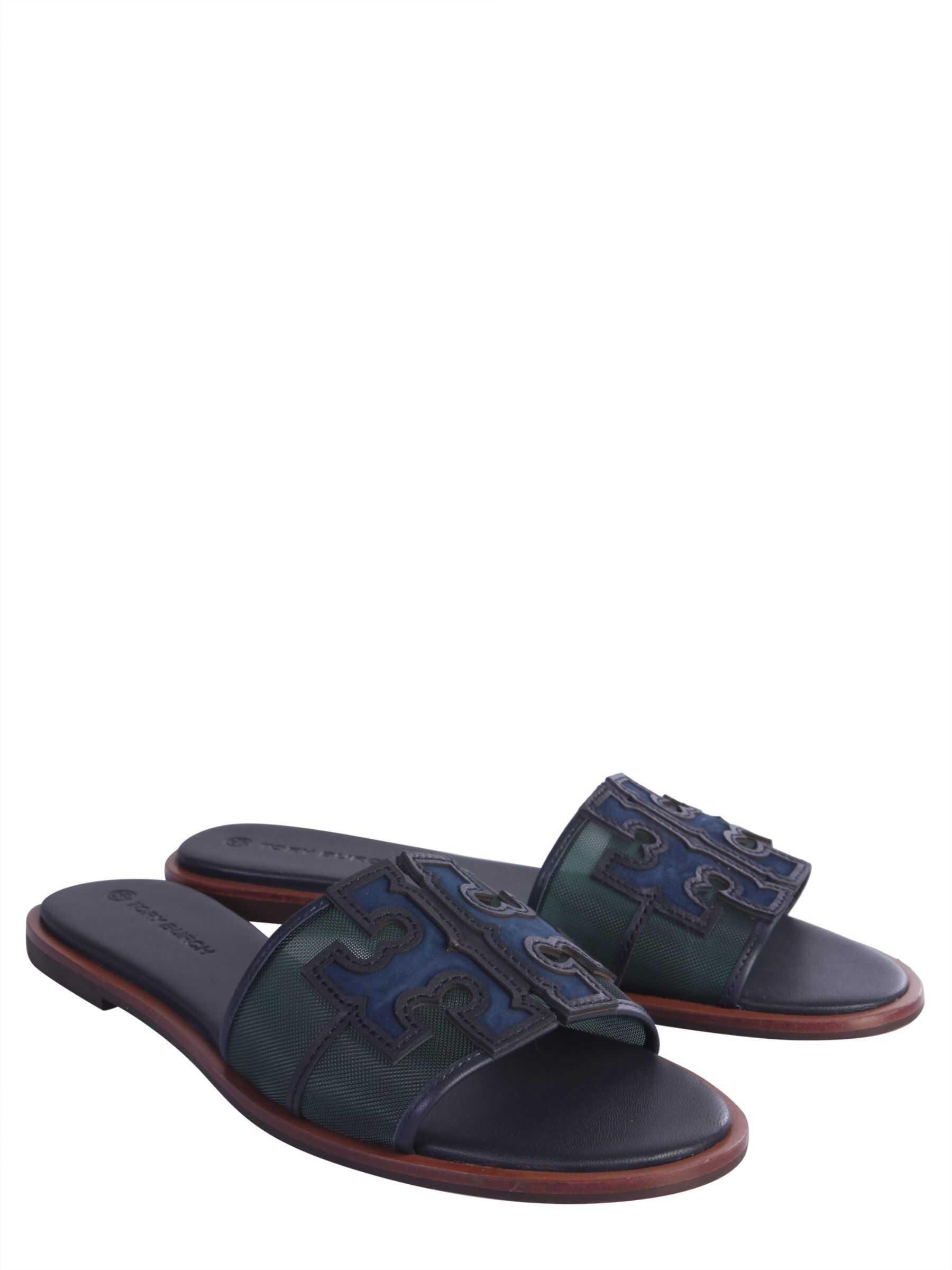 Tory Burch Slide Sandals GREEN