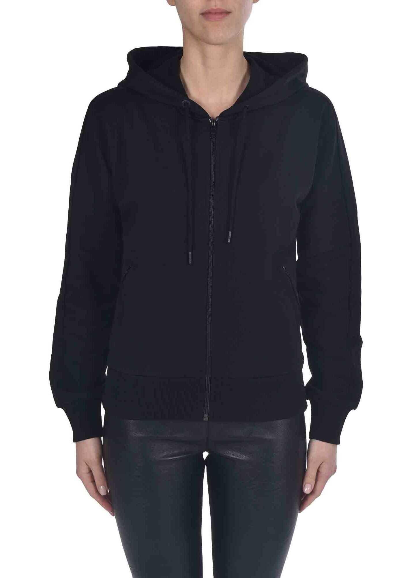 Kenzo Blouson Sweatshirt In Black Black