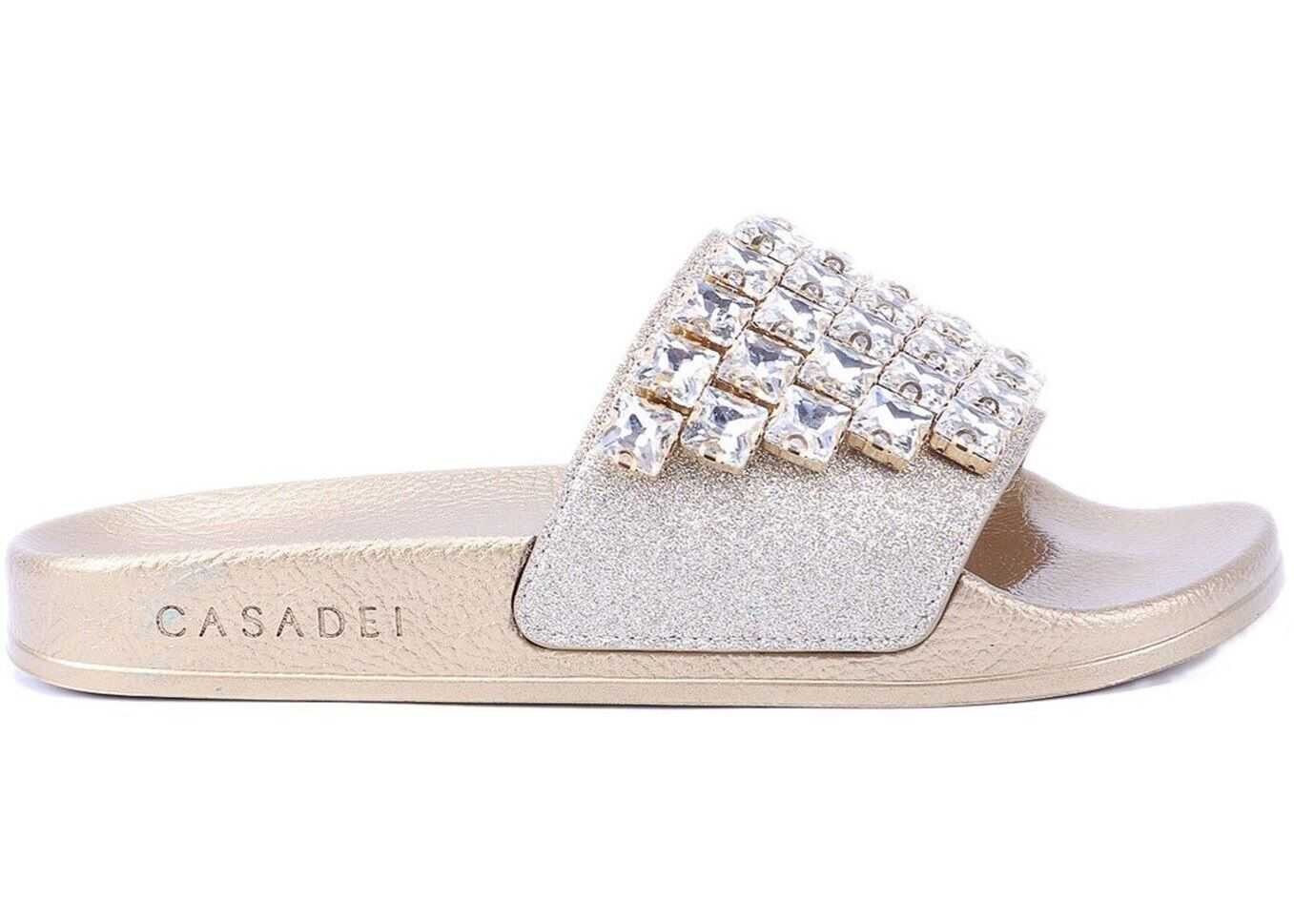 Casadei City Lights Pool Splendid Flats Gold