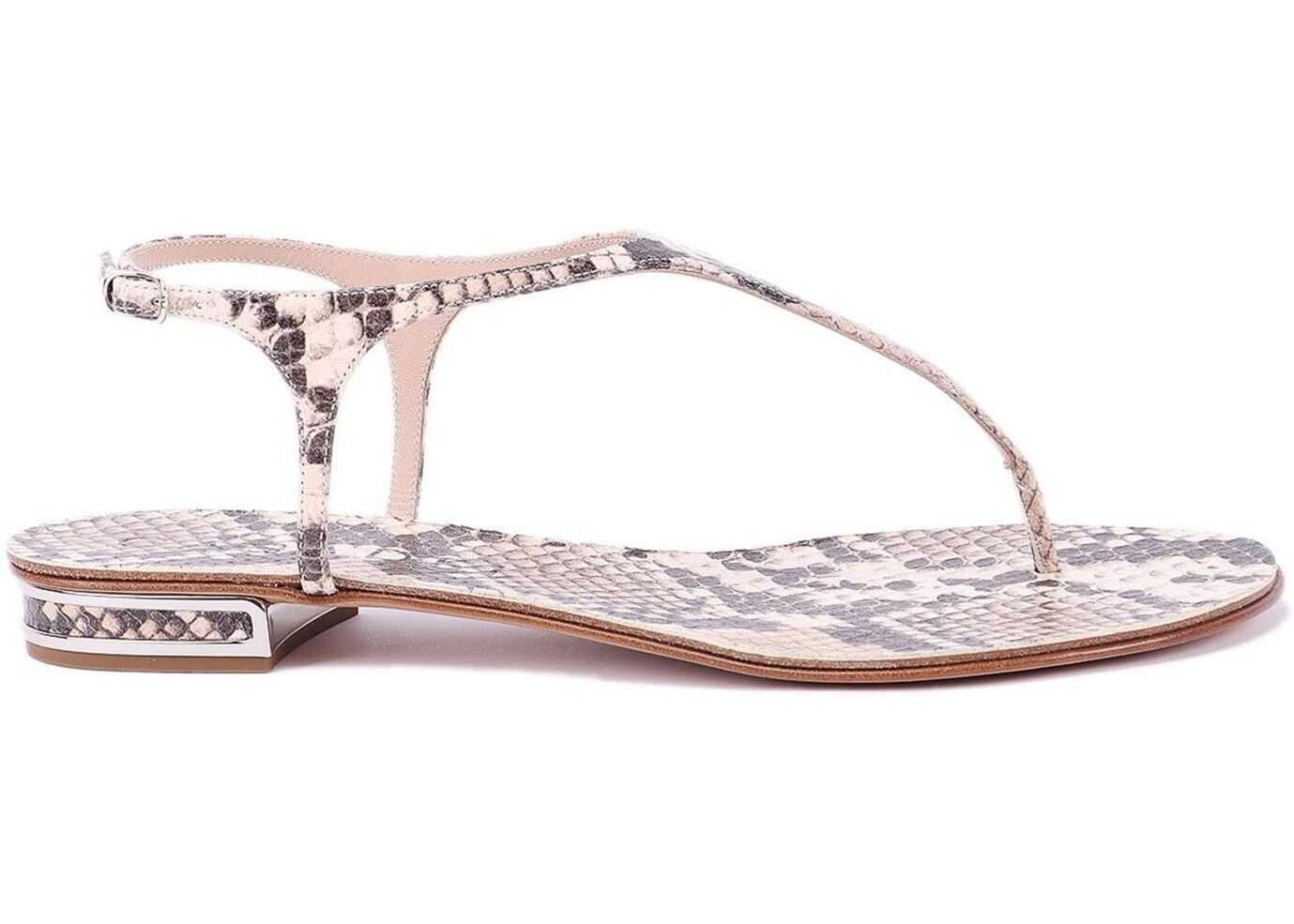 Casadei Masai Mara Thong Sandals Beige
