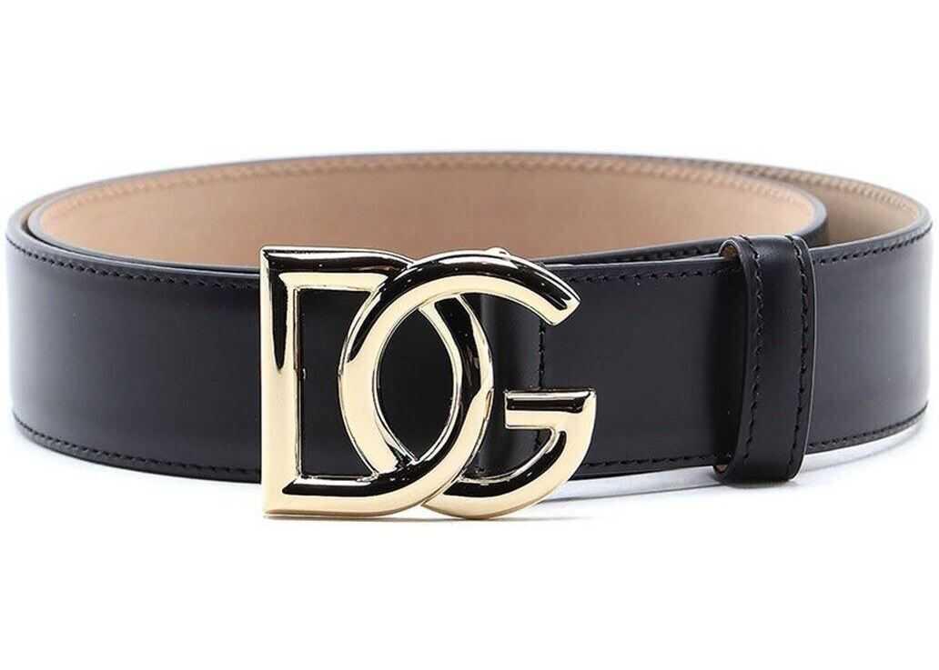 Dolce & Gabbana Dg Millennials Leather Belt Black