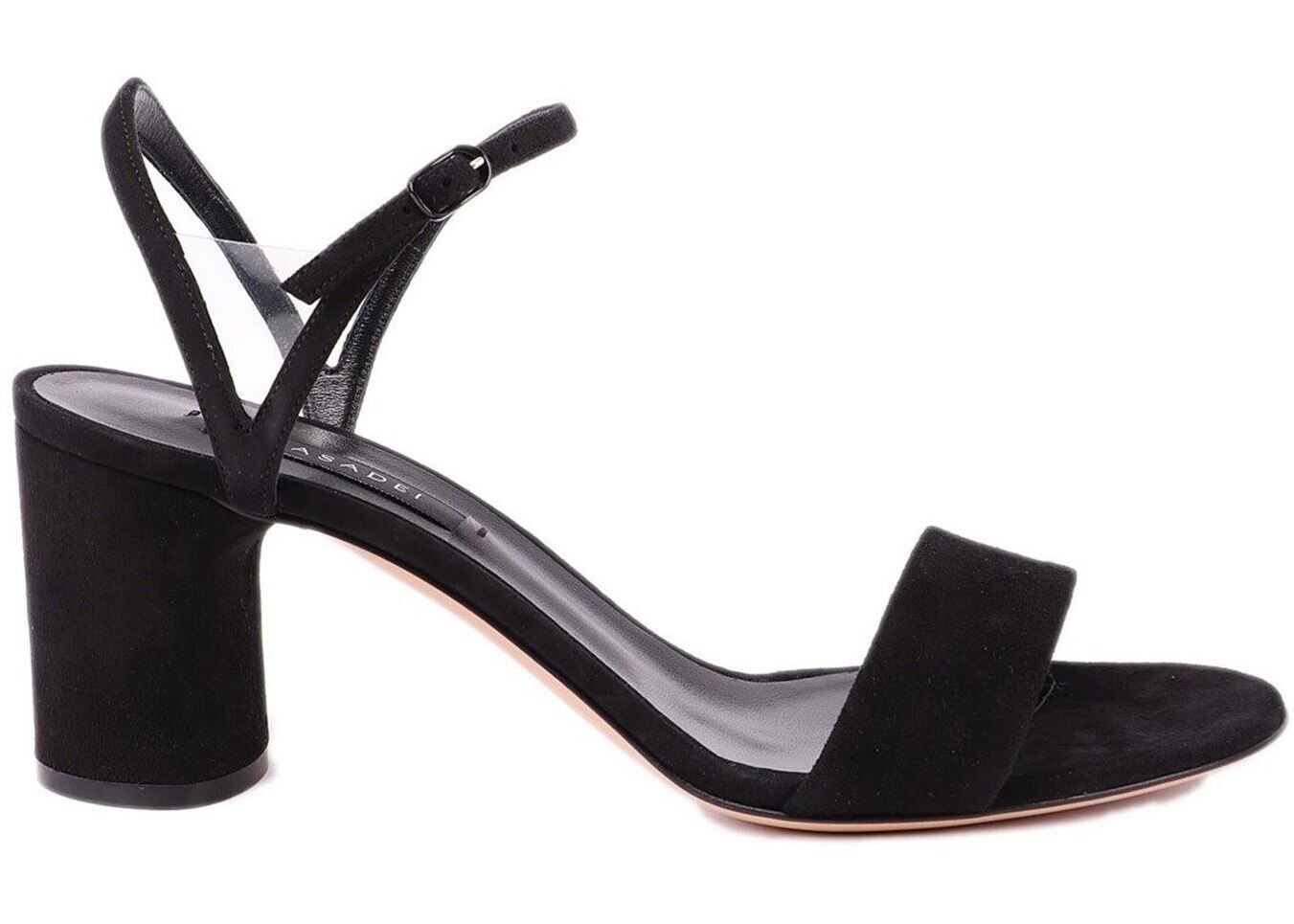 Casadei V Celebrity Black Suede Sandals Black