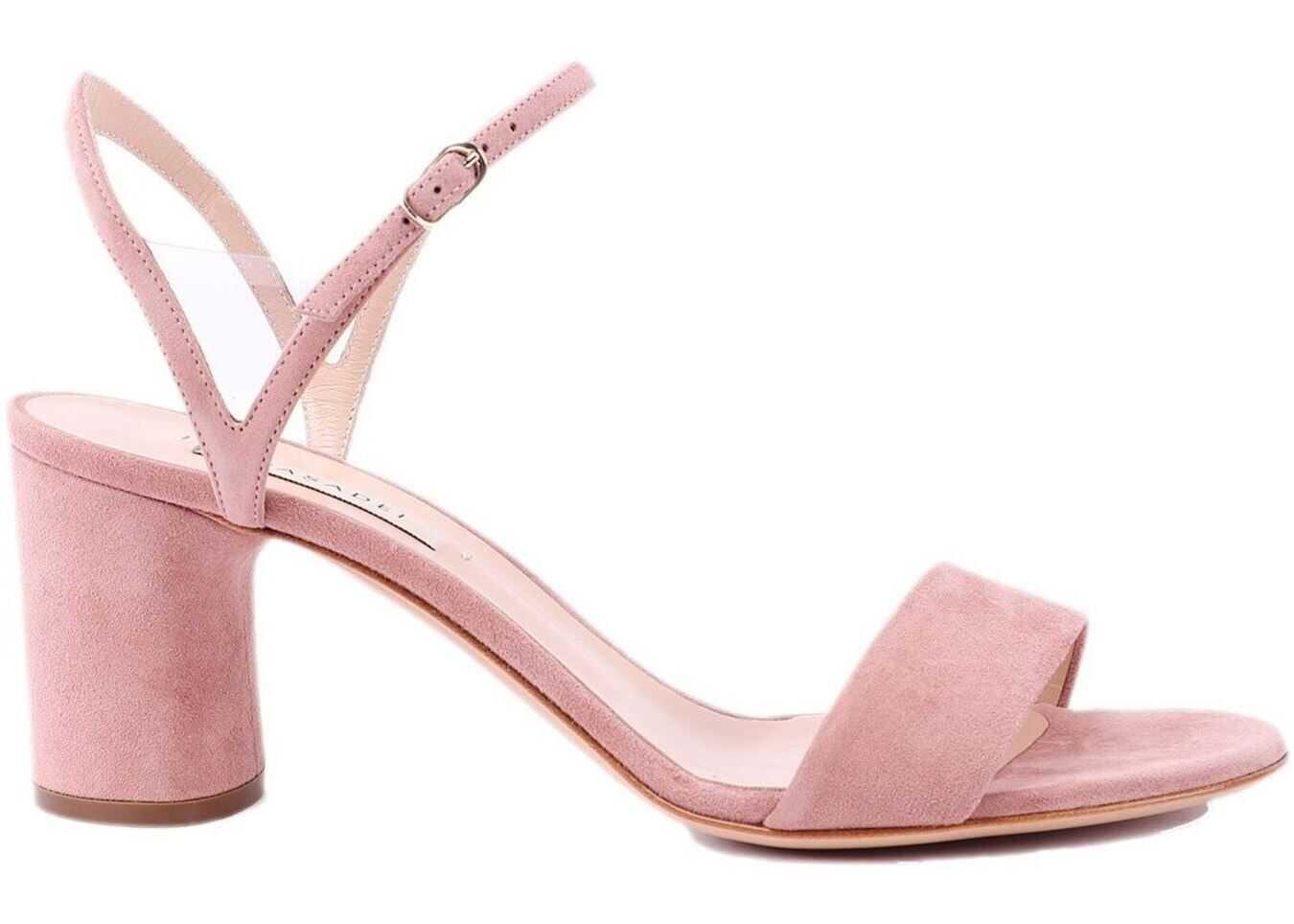 Casadei V Celebrity Suede Sandals Pink