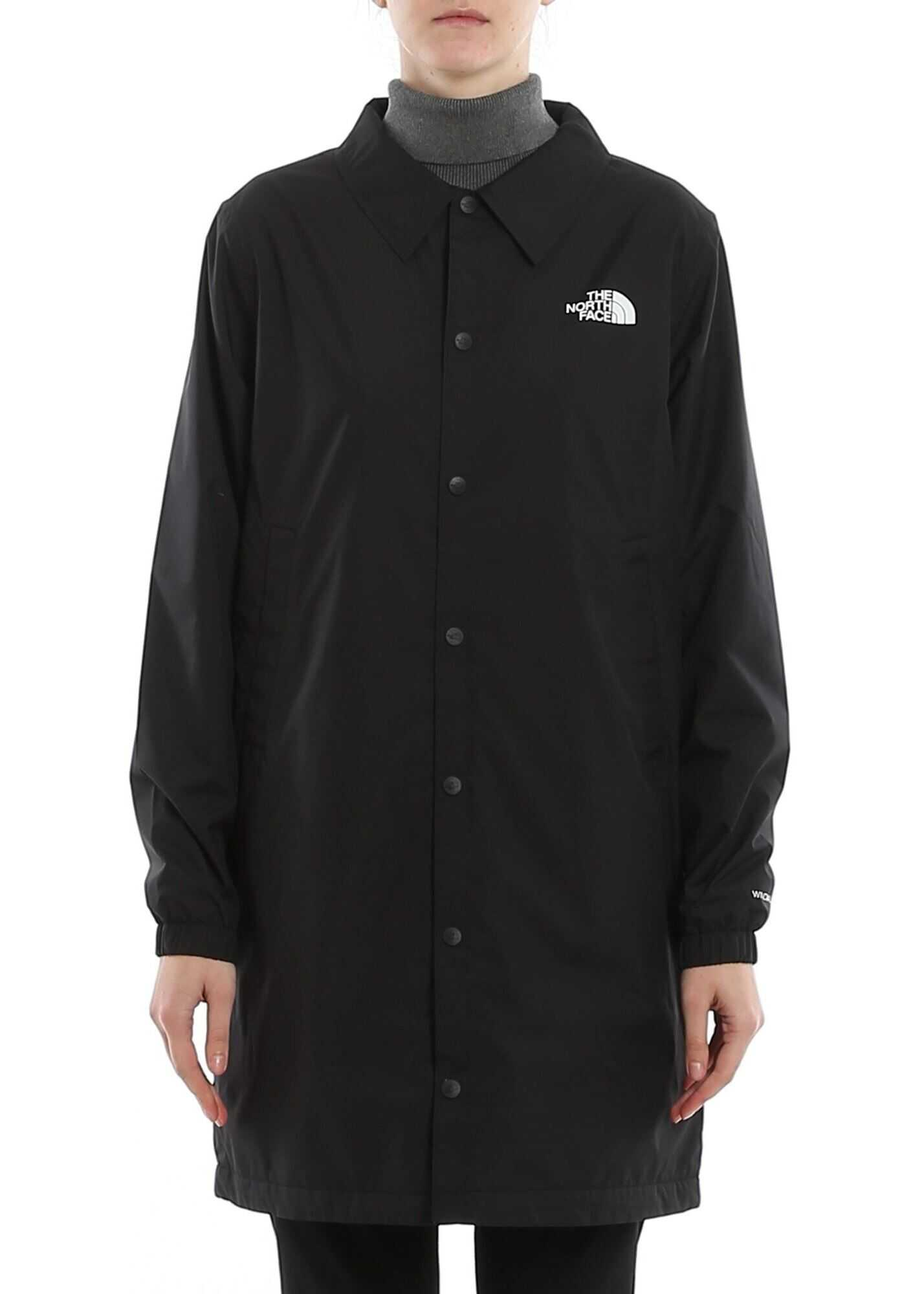 The North Face Logo Print Dust Coat Black