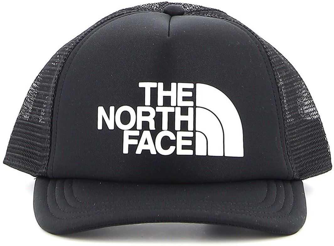 The North Face Logo Trucker Fabric And Mesh Baseball Cap Black