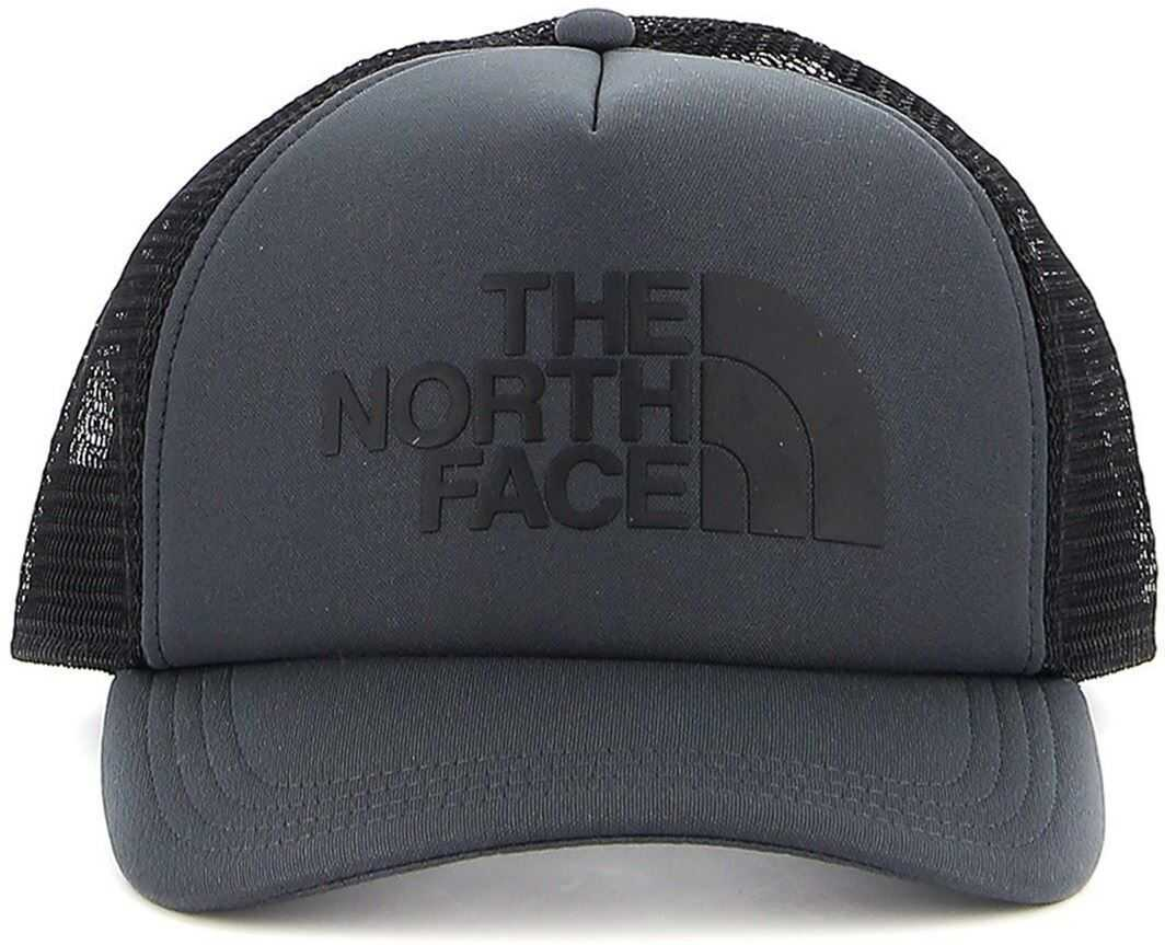 The North Face Logo Trucker Fabric And Mesh Black Cap Black