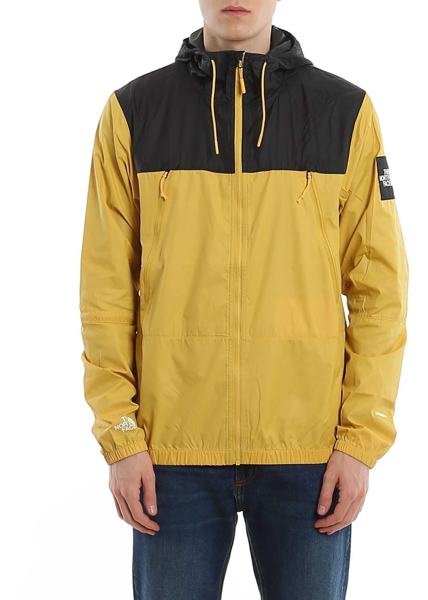 The North Face Two-Tone Nylon Windbreaker Yellow