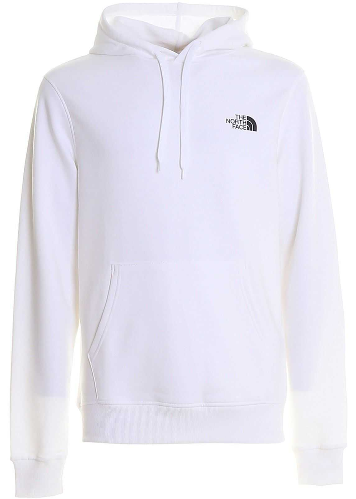 The North Face Graphic Print Hoodie White