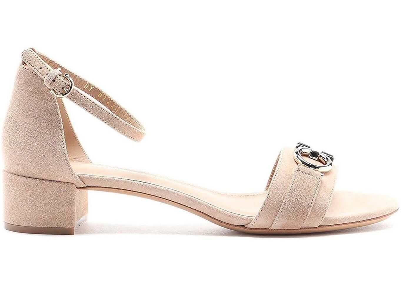 Salvatore Ferragamo Como 30 Gancini Detailed Sandals Pink