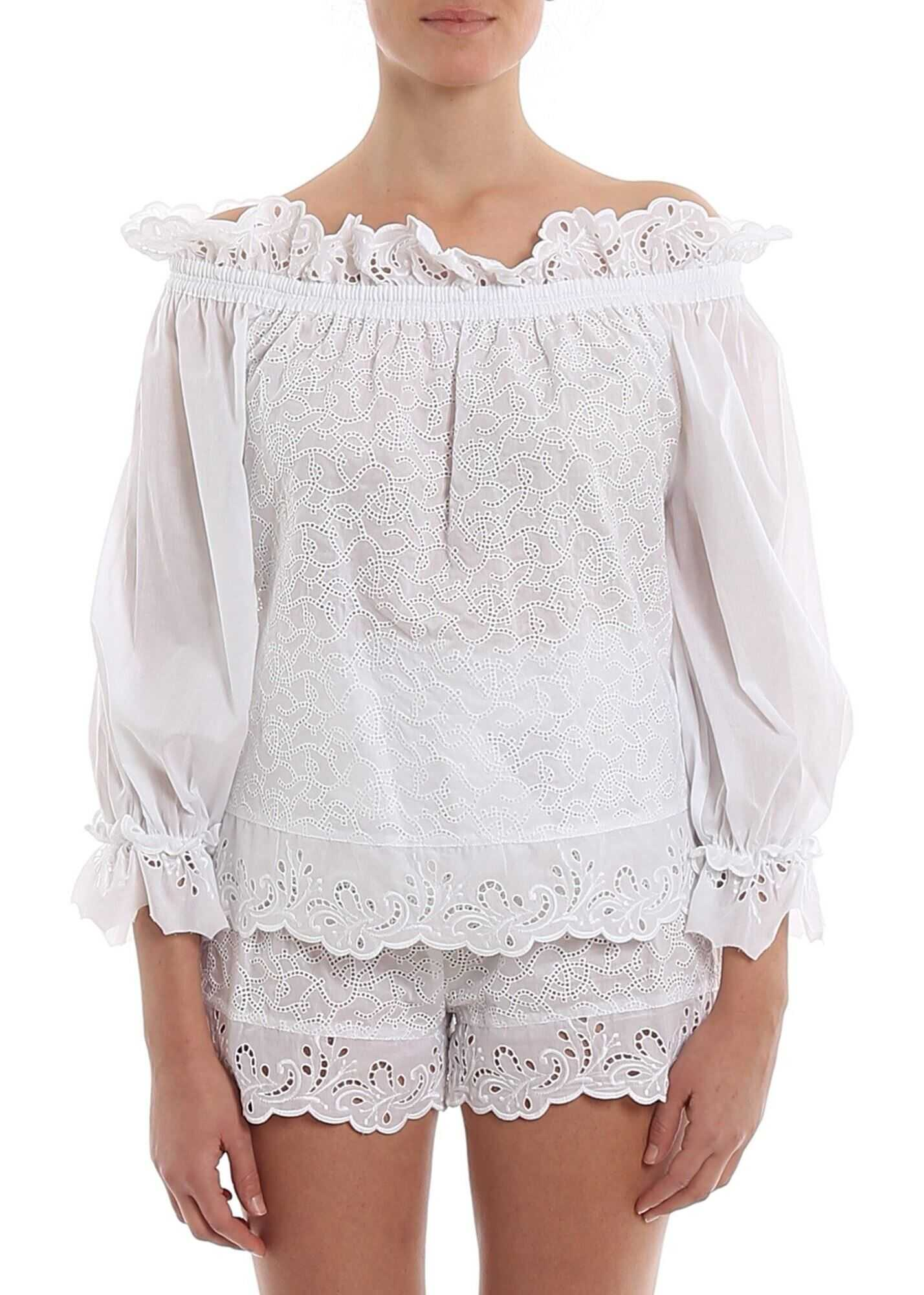 Ermanno Scervino Broderie Anglaise Blouse White
