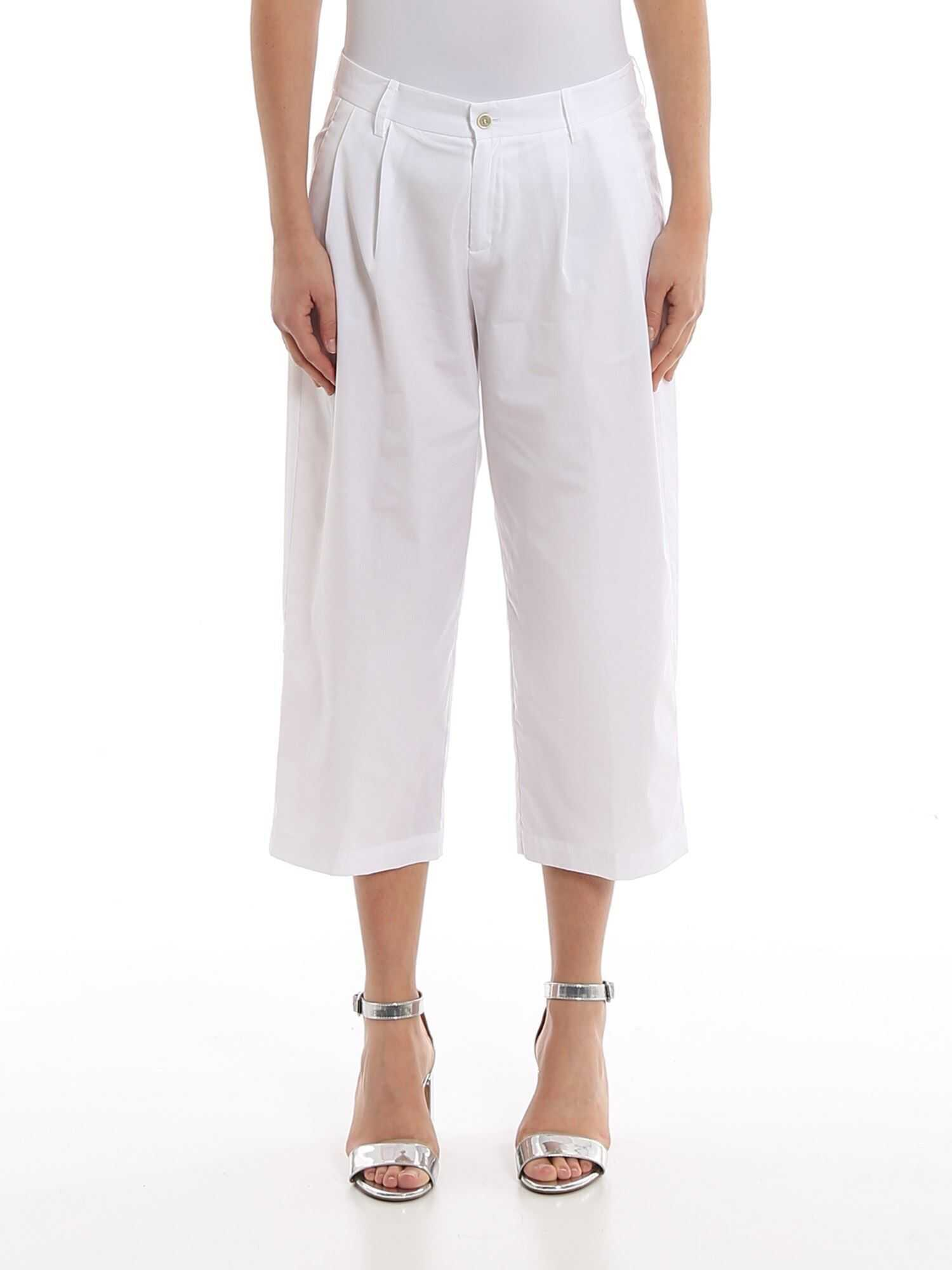Ermanno Scervino Cotton Cropped Trousers White