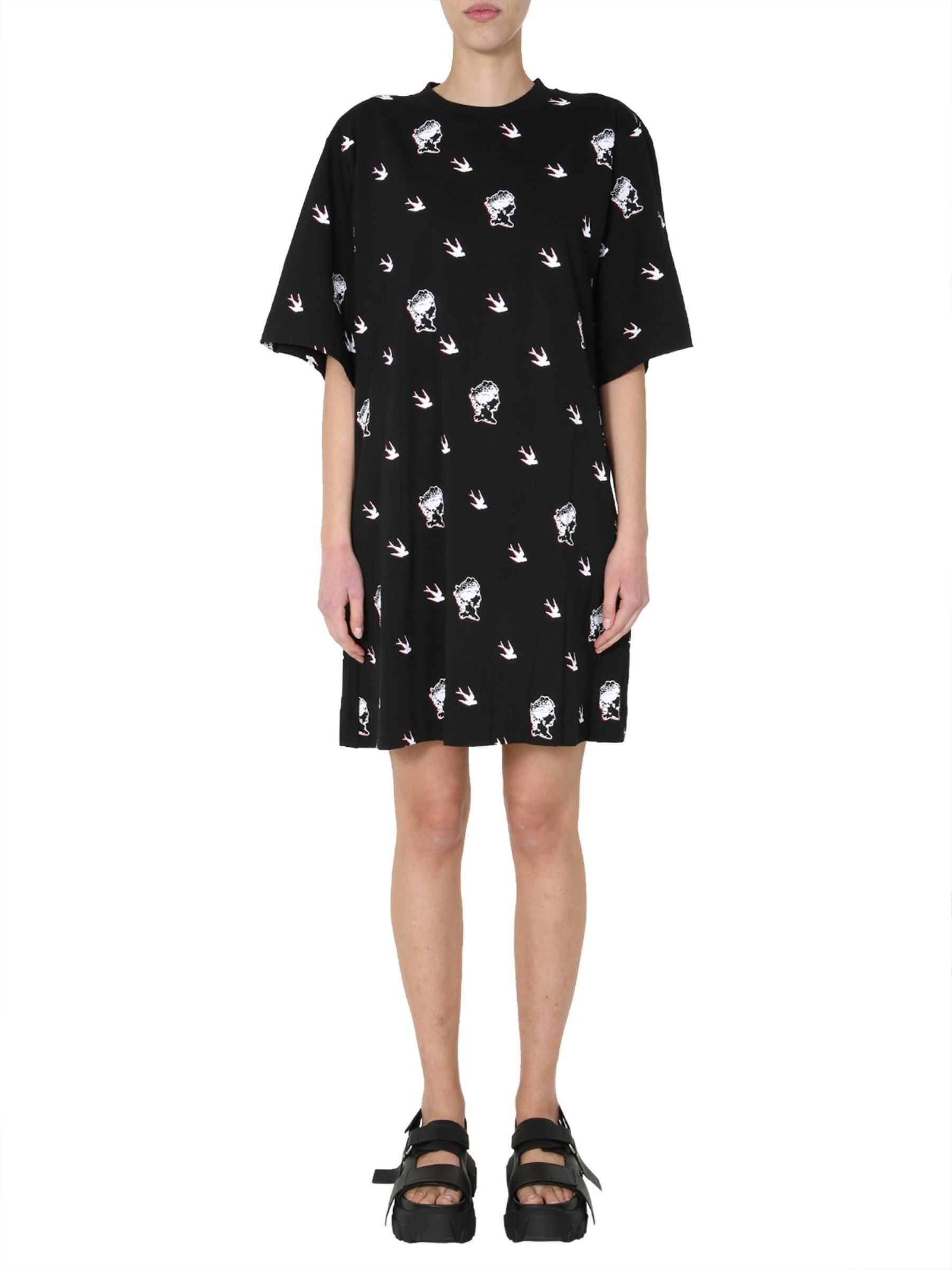 MCQ Alexander McQueen Round Neck T-Shirt Dress BLACK