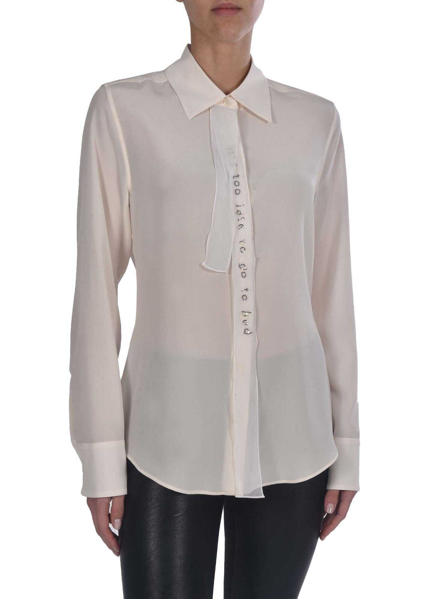 adidas by Stella McCartney Shirt In Cream Color With Ribbons Cream