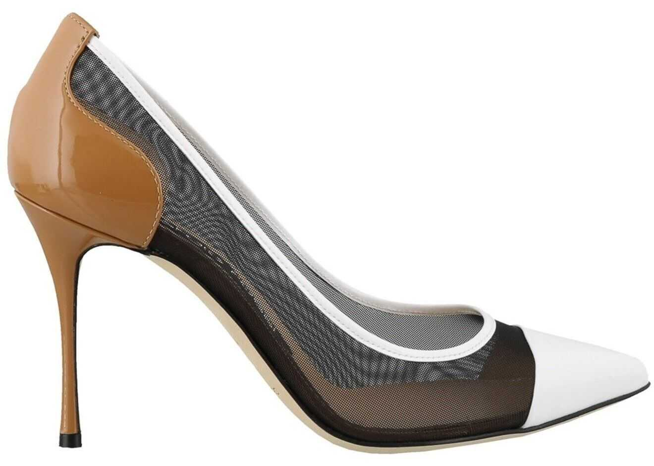 Sergio Rossi Fabric And Patent Leather Pumps Black