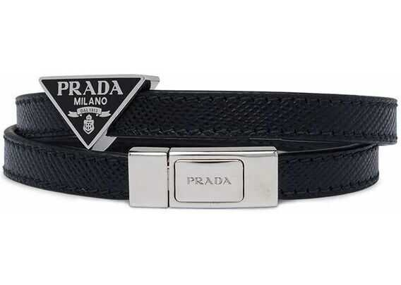 Prada Leather Bracelet BLACK