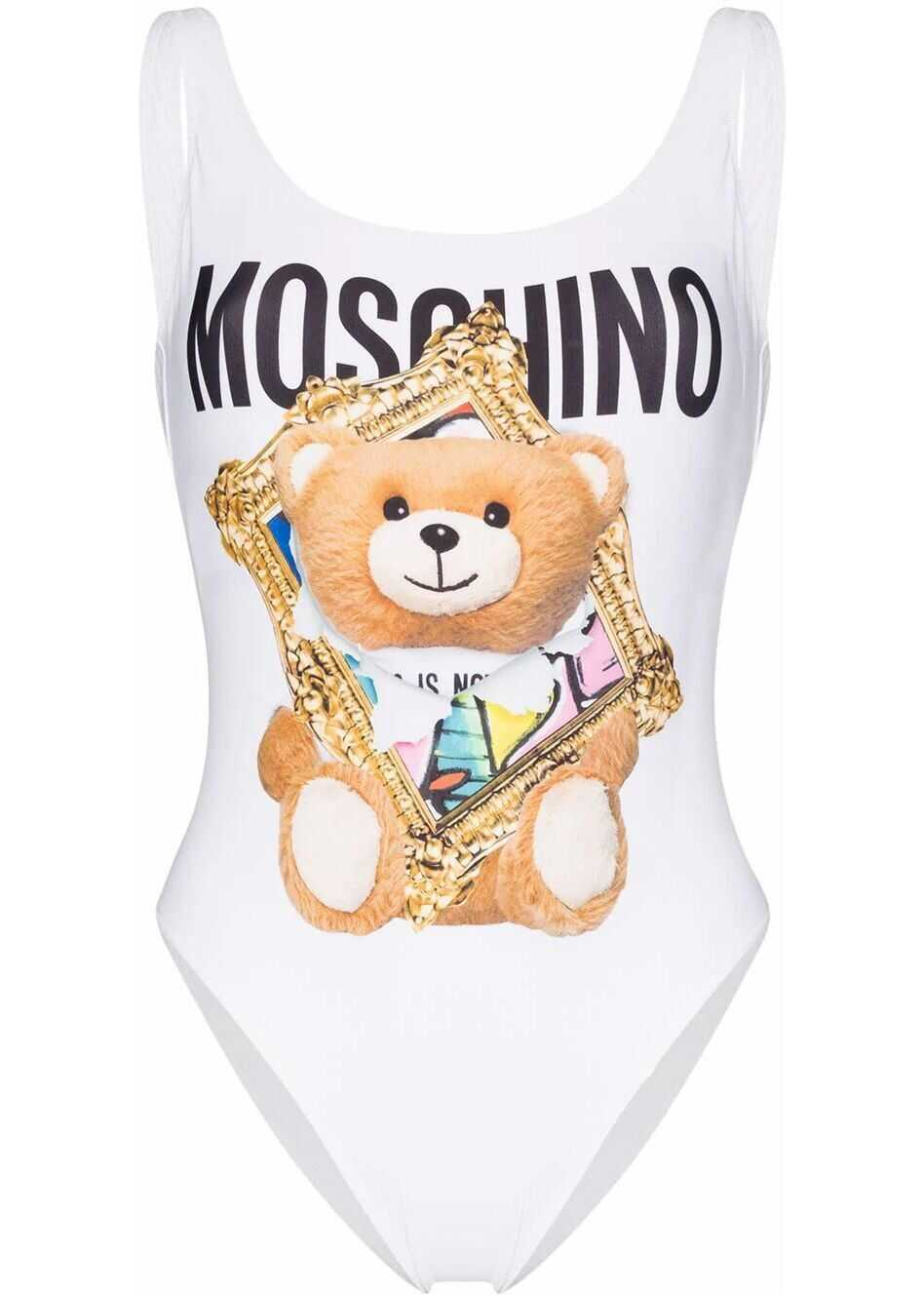 Moschino Polyester One-Piece Suit WHITE