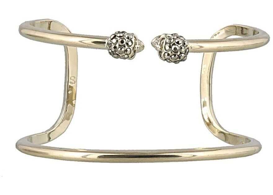 Alexander McQueen Brass Double Wrap Bracelet Gold