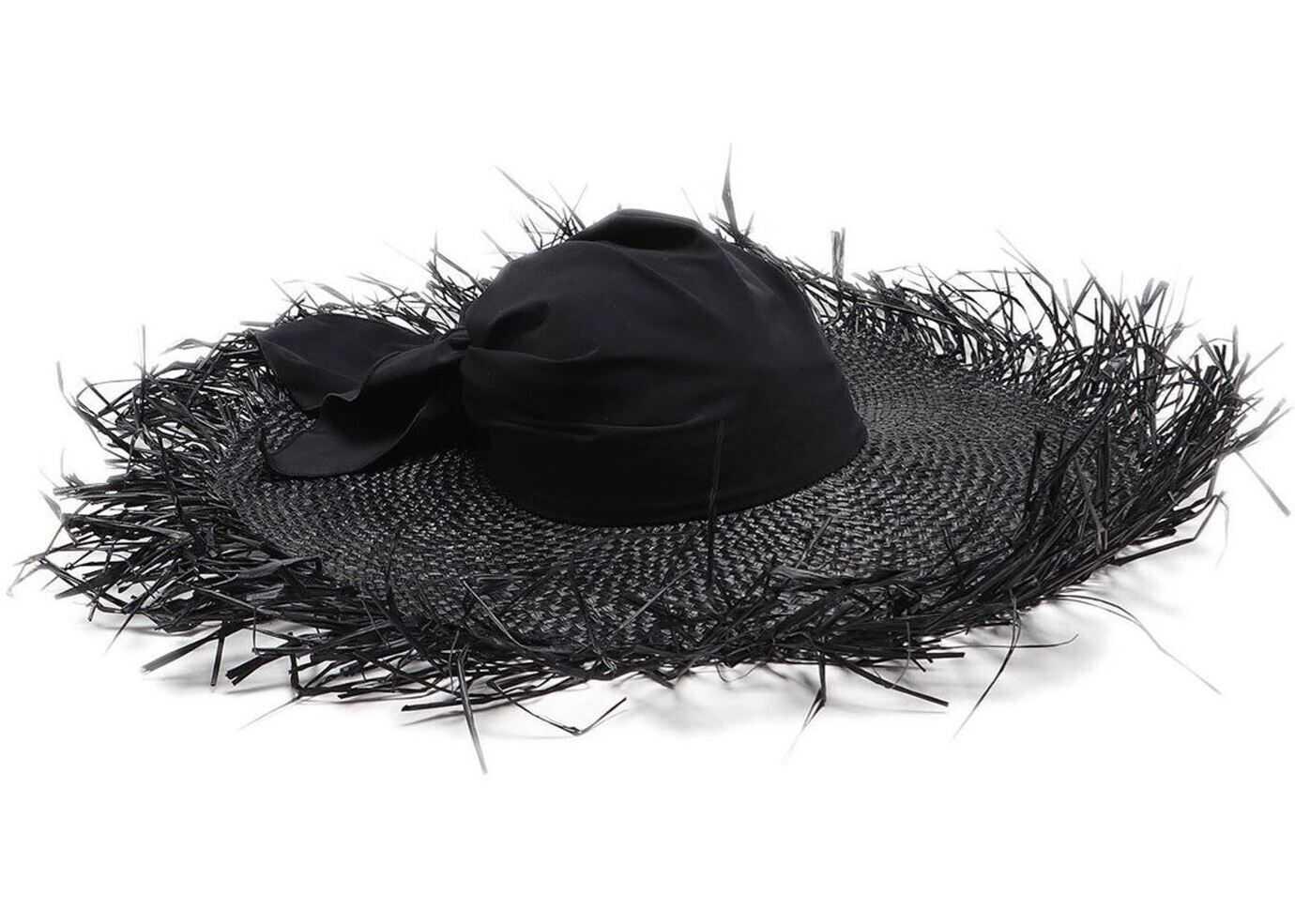 Giorgio Armani Black Woven Hat Black