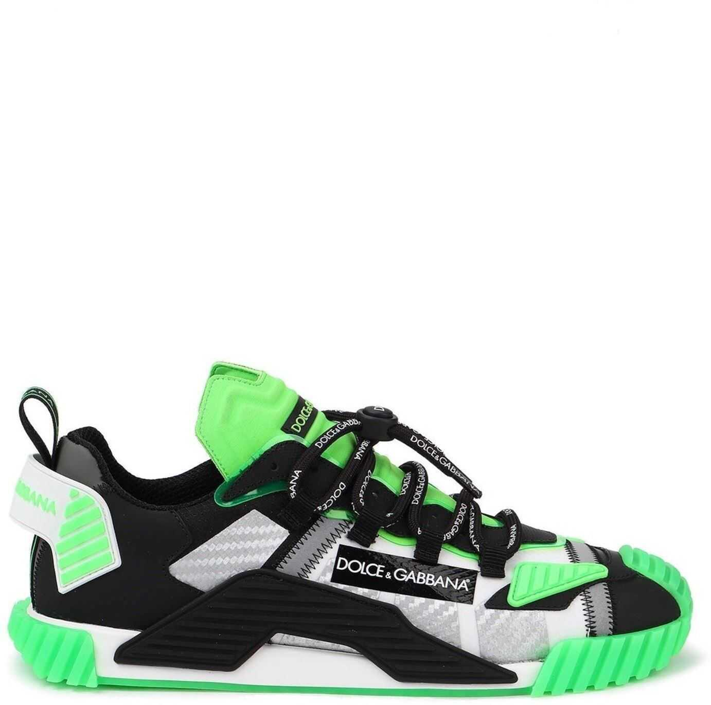 Dolce & Gabbana Ns1 Mixed Materials Neon Sneakers Multi