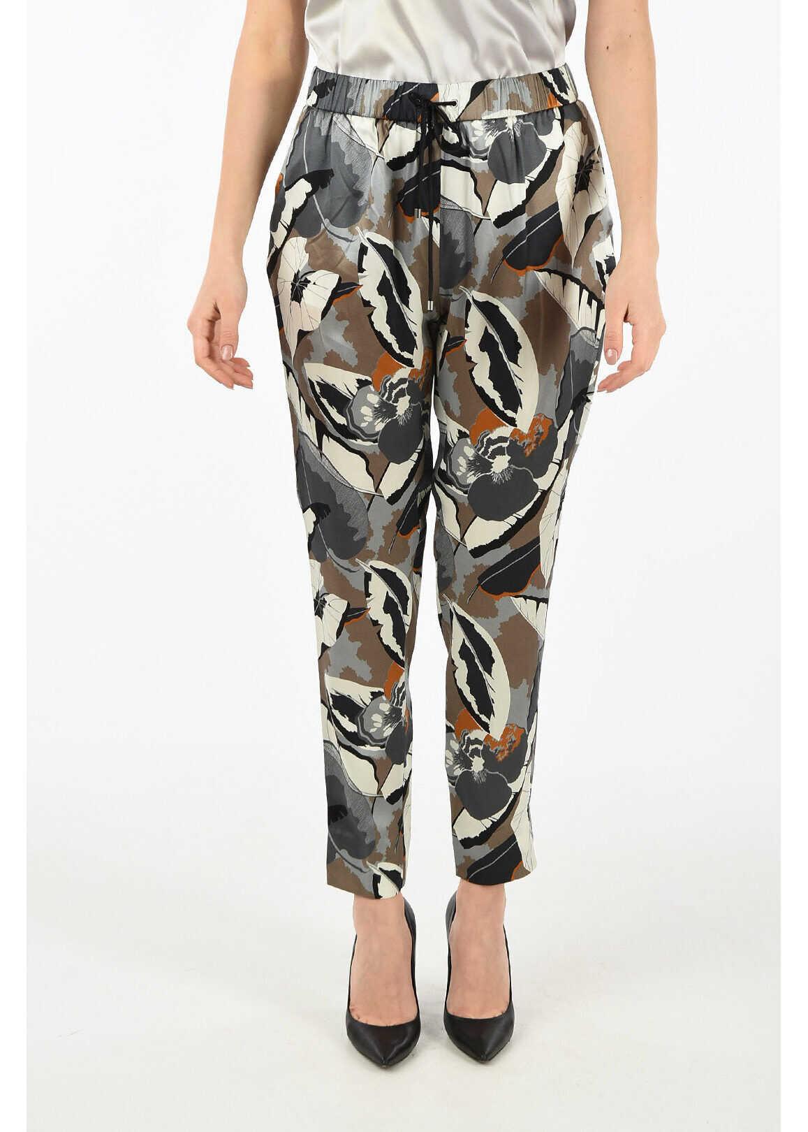 Fabiana Filippi silk floral-print pants MULTICOLOR