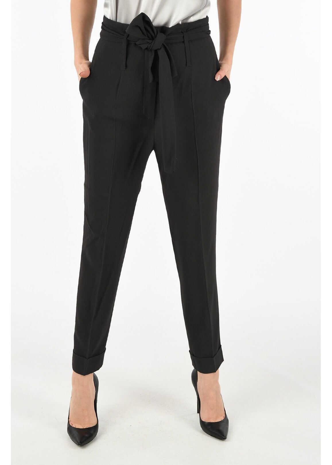 Fabiana Filippi high-rise waist pants GRAY