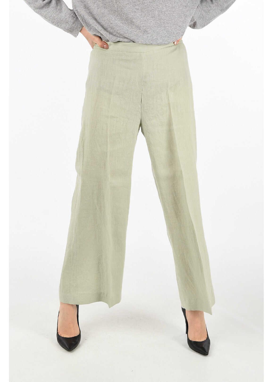 Fabiana Filippi flax pants GRAY